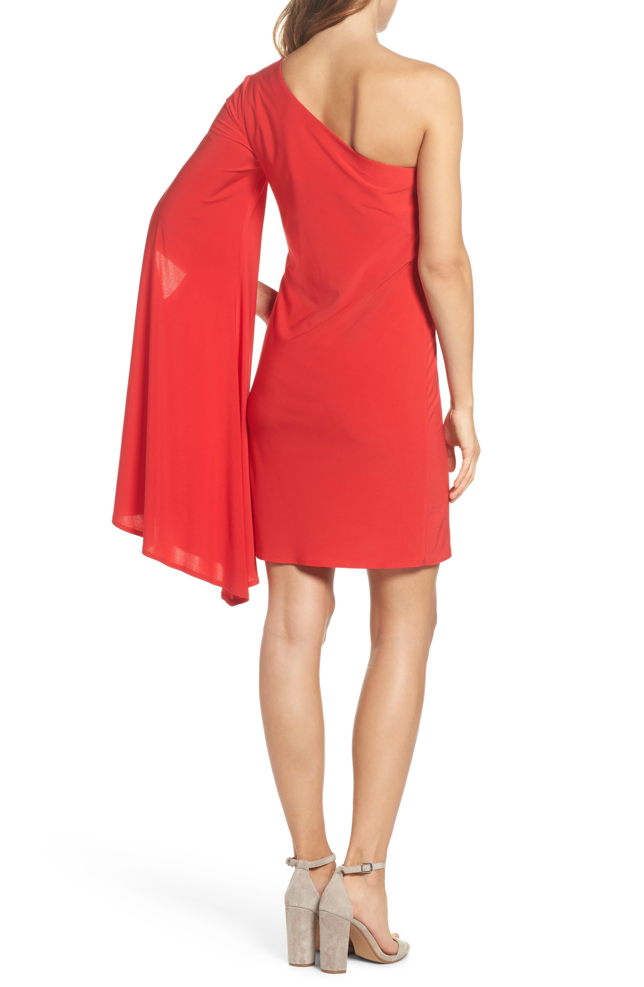 Musa One-Shoulder Dress,                             Alternate thumbnail 2, color,