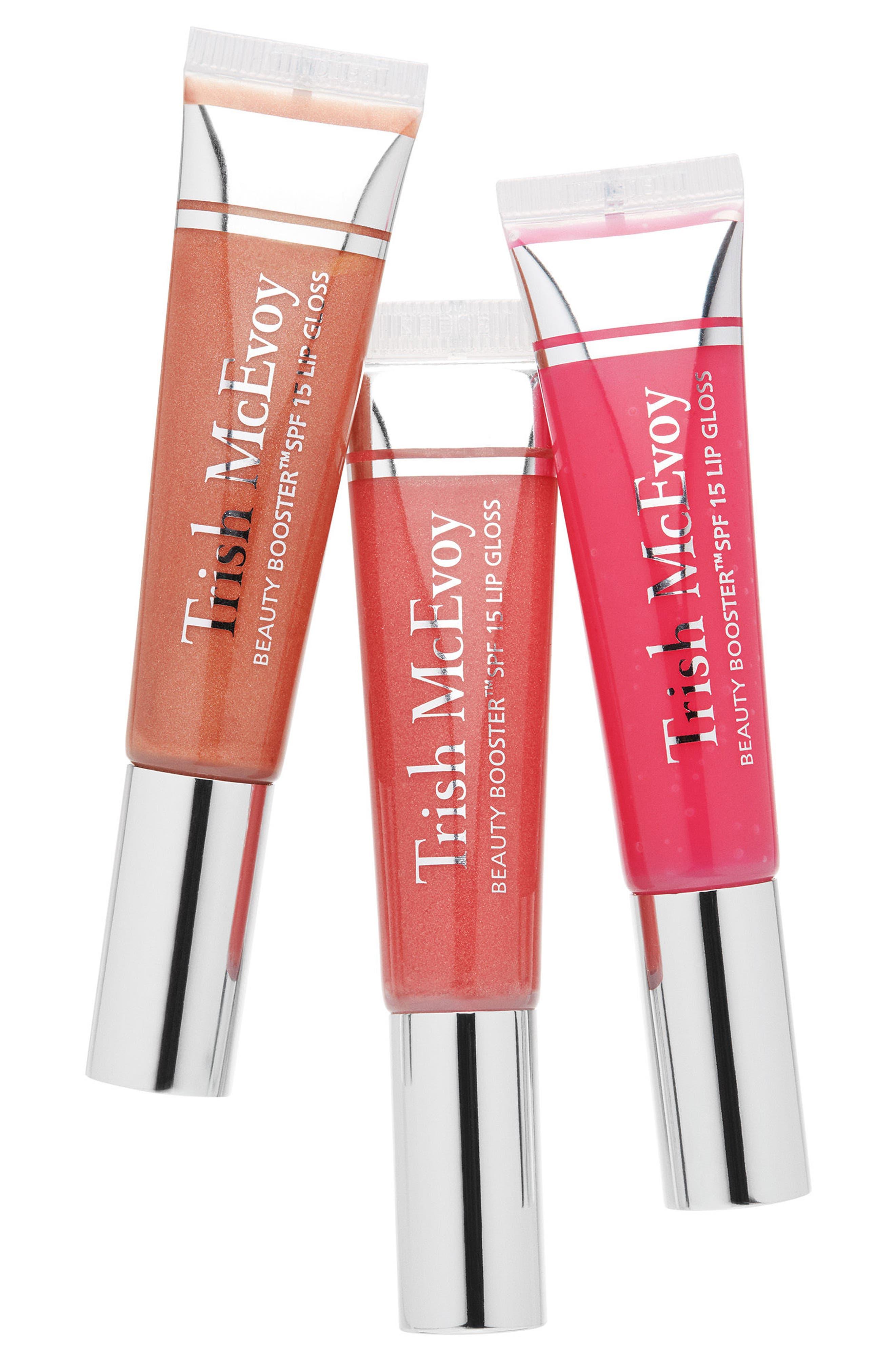Beauty Booster<sup>®</sup> SPF 15 Lip Gloss Trio,                             Main thumbnail 1, color,                             000