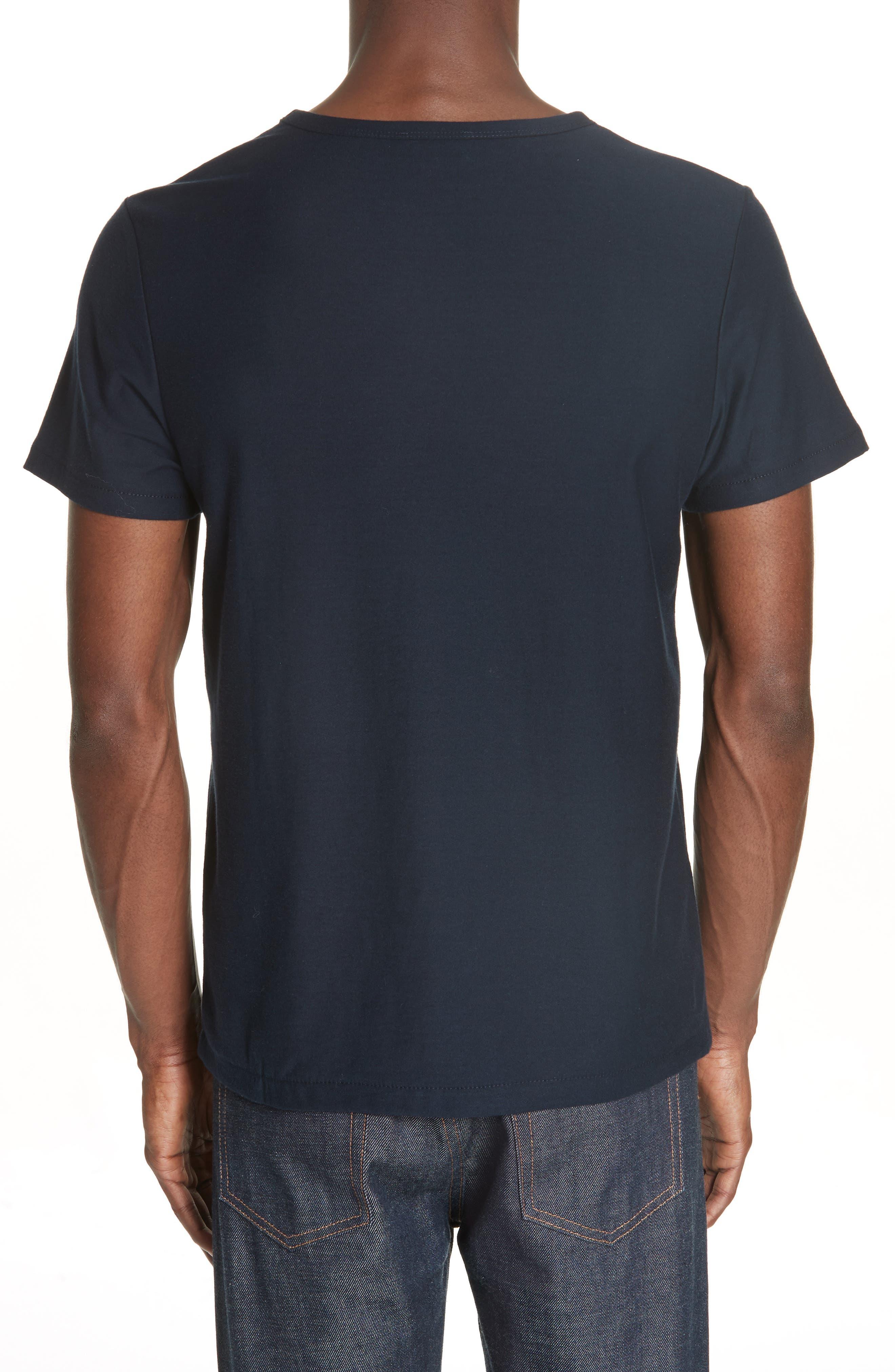 Stripe Logo T-Shirt,                             Alternate thumbnail 2, color,                             IAK NAVY