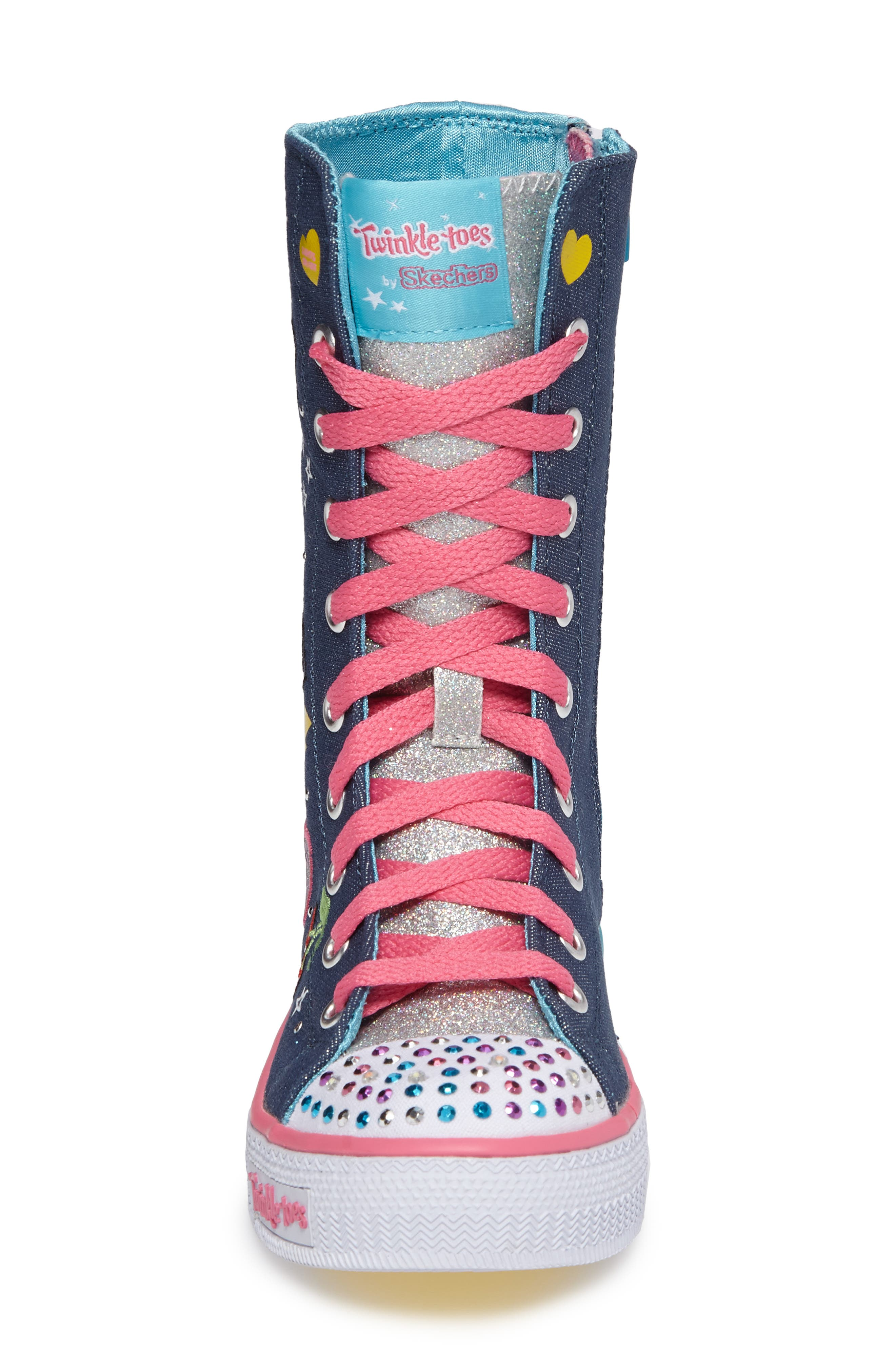 Twinkle Toes Shuffles Ultra High Top Sneaker,                             Alternate thumbnail 4, color,                             468