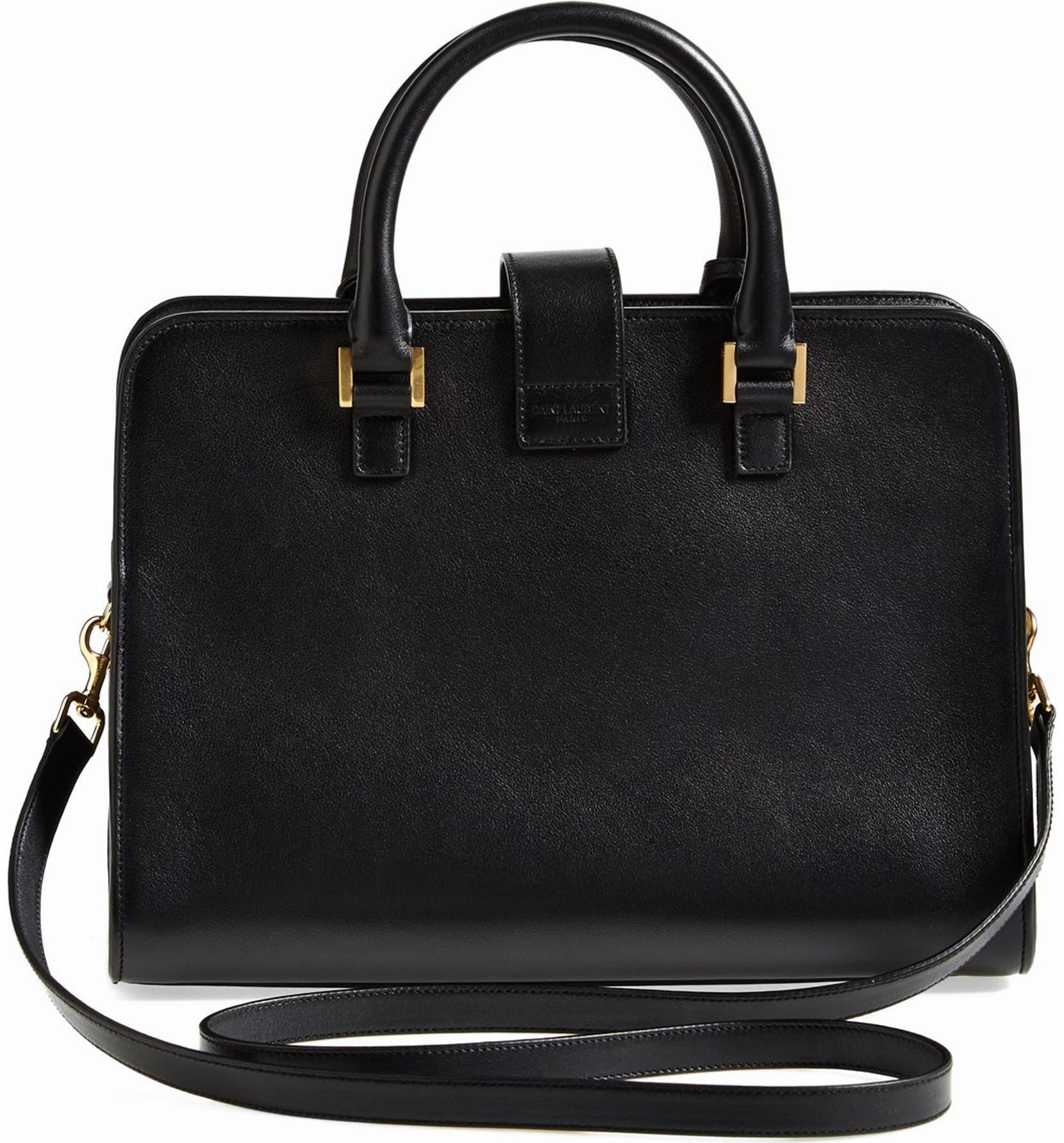 752c0d8149a2 Saint Laurent  Small Cabas  Leather Satchel
