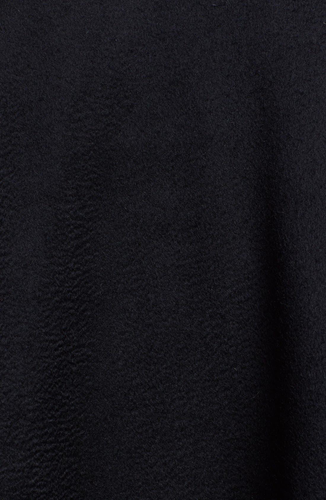 Genuine Fox Fur Trim Short Cashmere Cape,                             Alternate thumbnail 10, color,