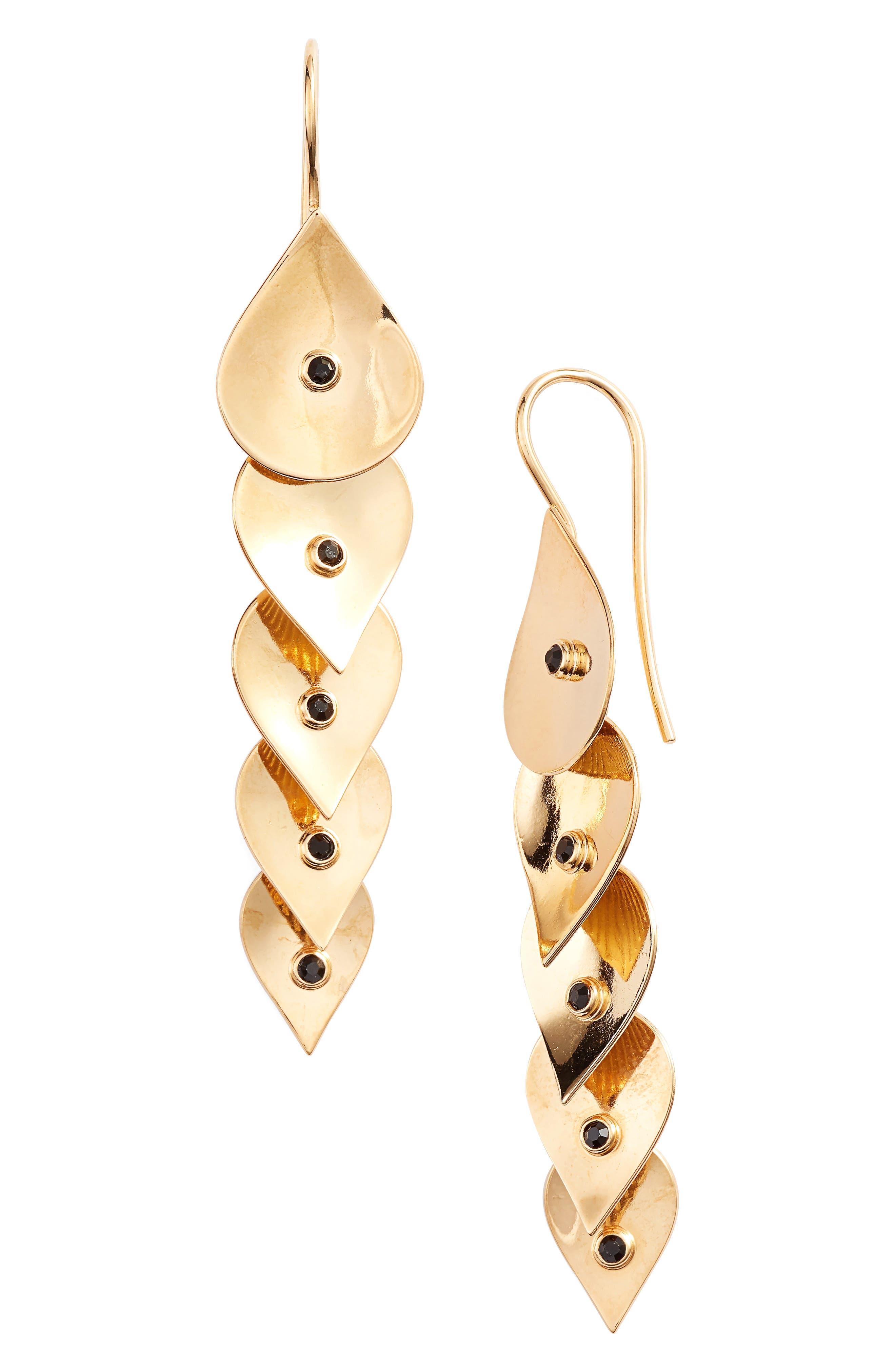 Pan Linear Drop Earrings,                             Main thumbnail 1, color,                             710