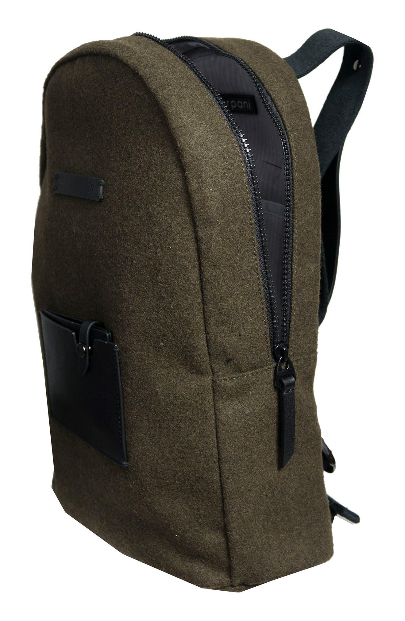 Indie Boiled Wool Backpack,                             Alternate thumbnail 11, color,