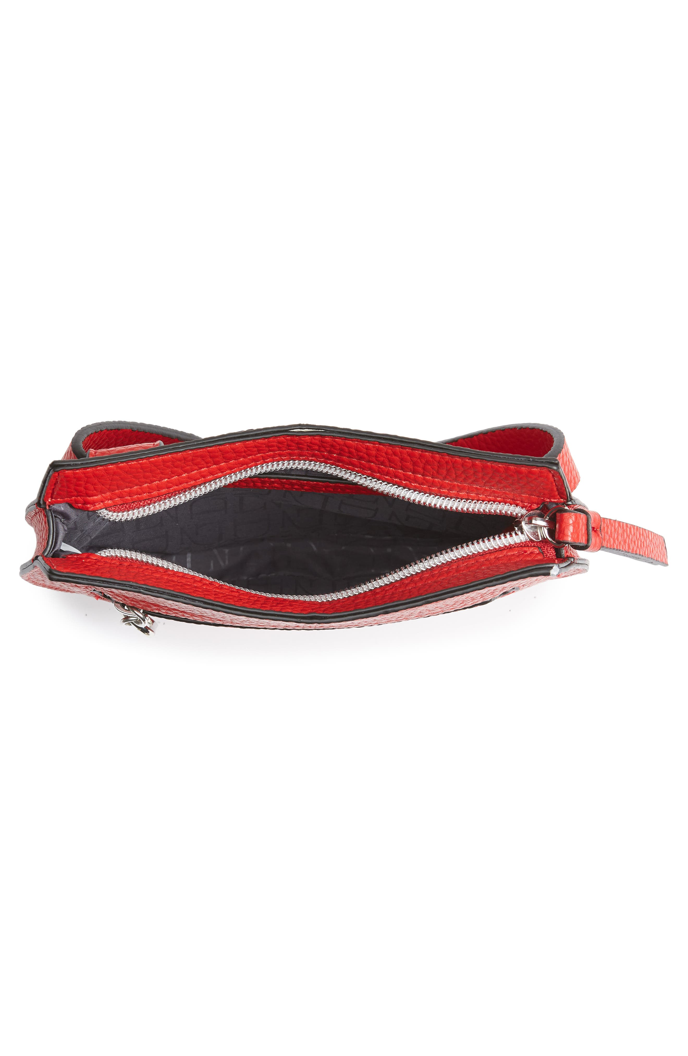 Trish Faux Leather Belt Bag,                             Alternate thumbnail 5, color,                             RED