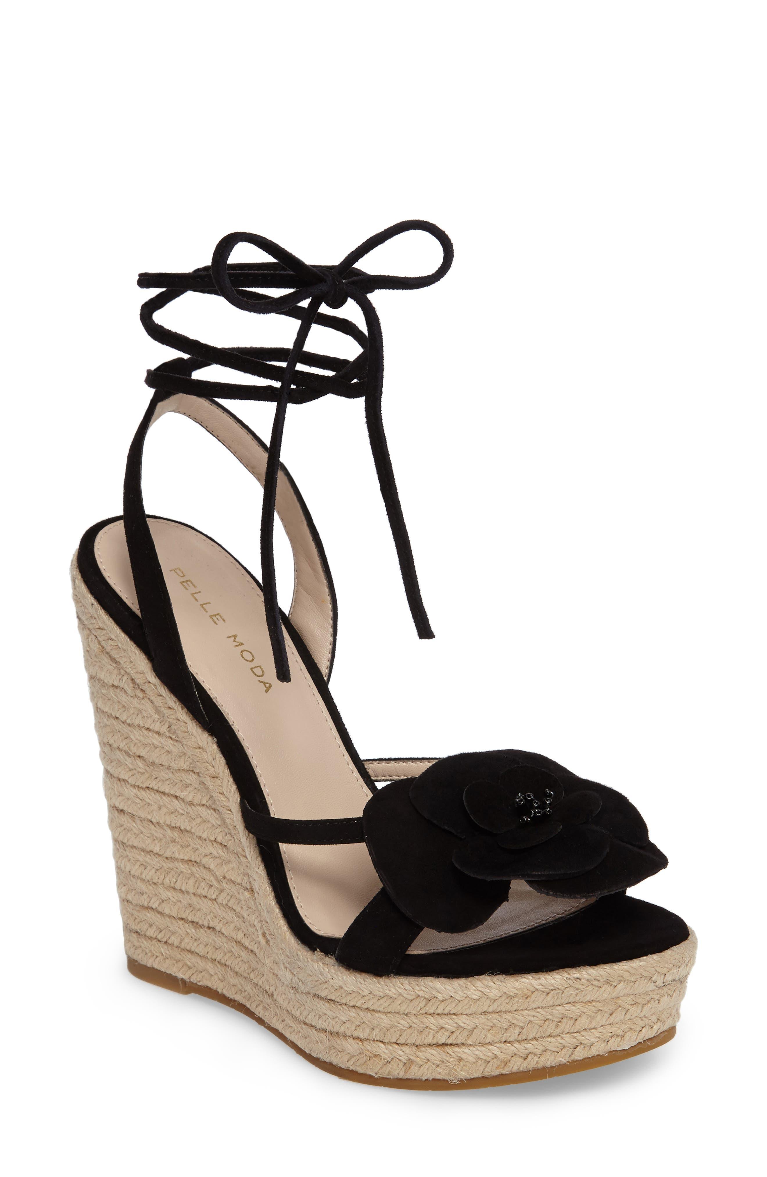 Olena Espadrille Wedge Sandal,                         Main,                         color, 001