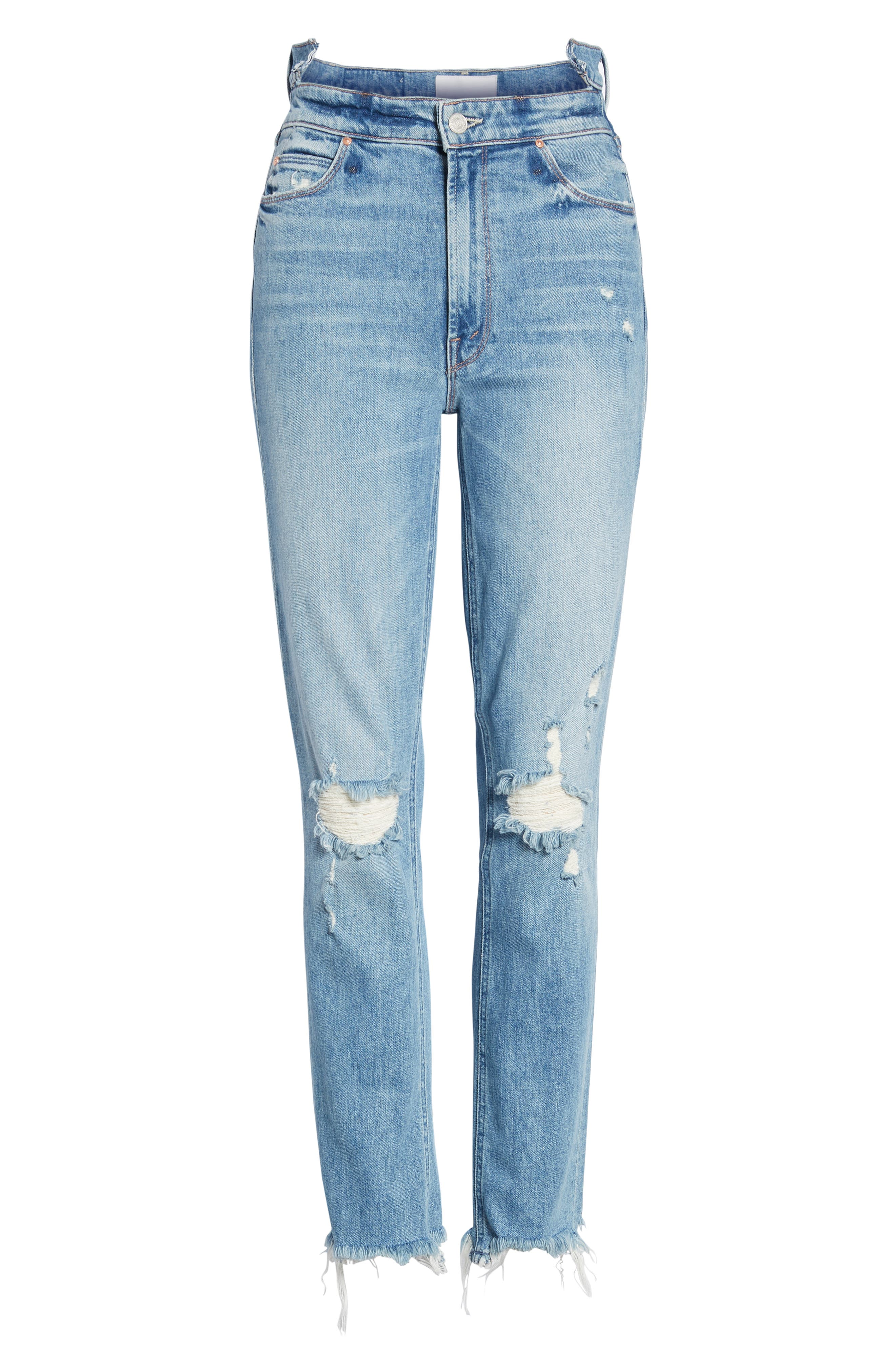 Dazzler Shift Step Waistband Jeans,                             Alternate thumbnail 7, color,                             452
