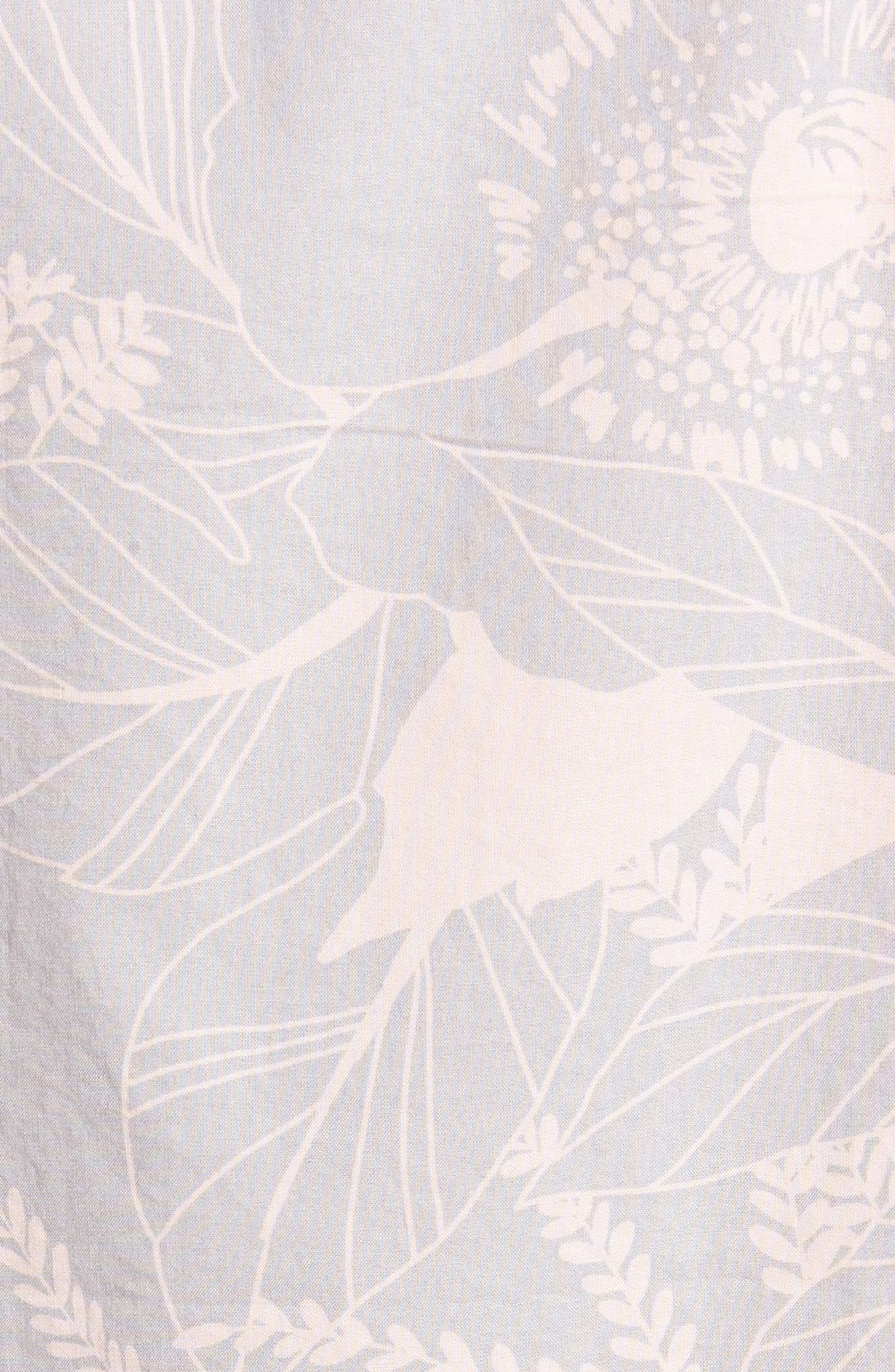 Riviera Slim Fit Floral Print Sport Shirt,                             Alternate thumbnail 5, color,                             LINEAR FLORAL - SKIVVY PINK