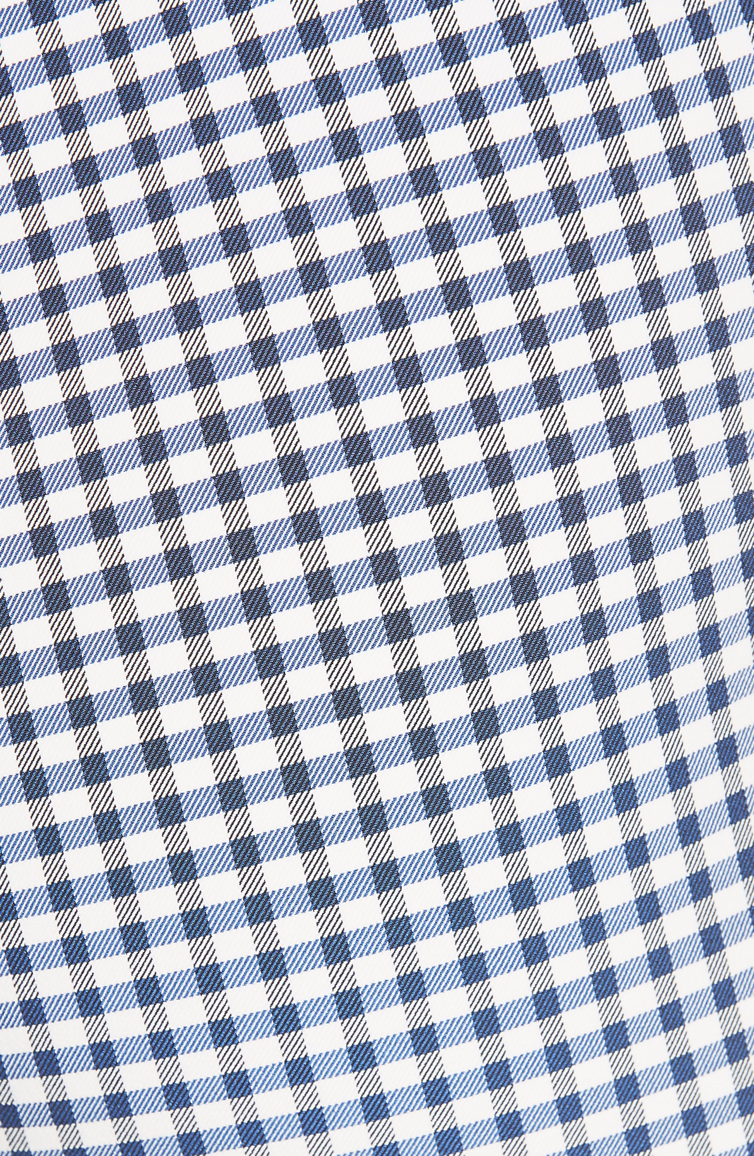 Gingham Check Skinny Pants,                             Alternate thumbnail 5, color,                             BLUE MULTI