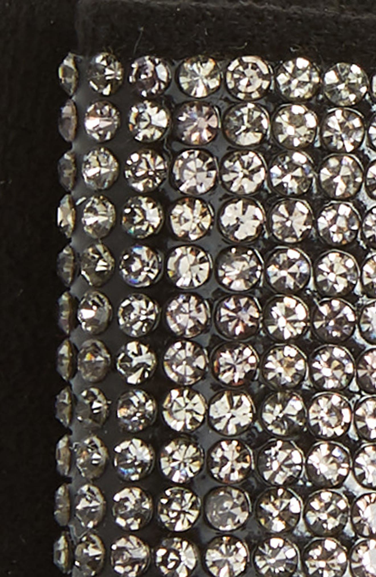Manière Swarovski Crystal Hair Clip,                             Alternate thumbnail 3, color,                             BLACK