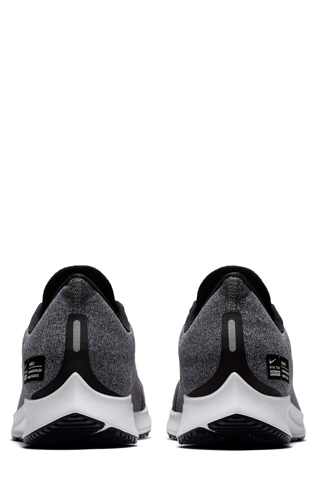 Air Zoom Pegasus 35 Shield Water Repellent Running Shoe,                             Alternate thumbnail 5, color,                             BLACK/ WHITE/ COOL GREY