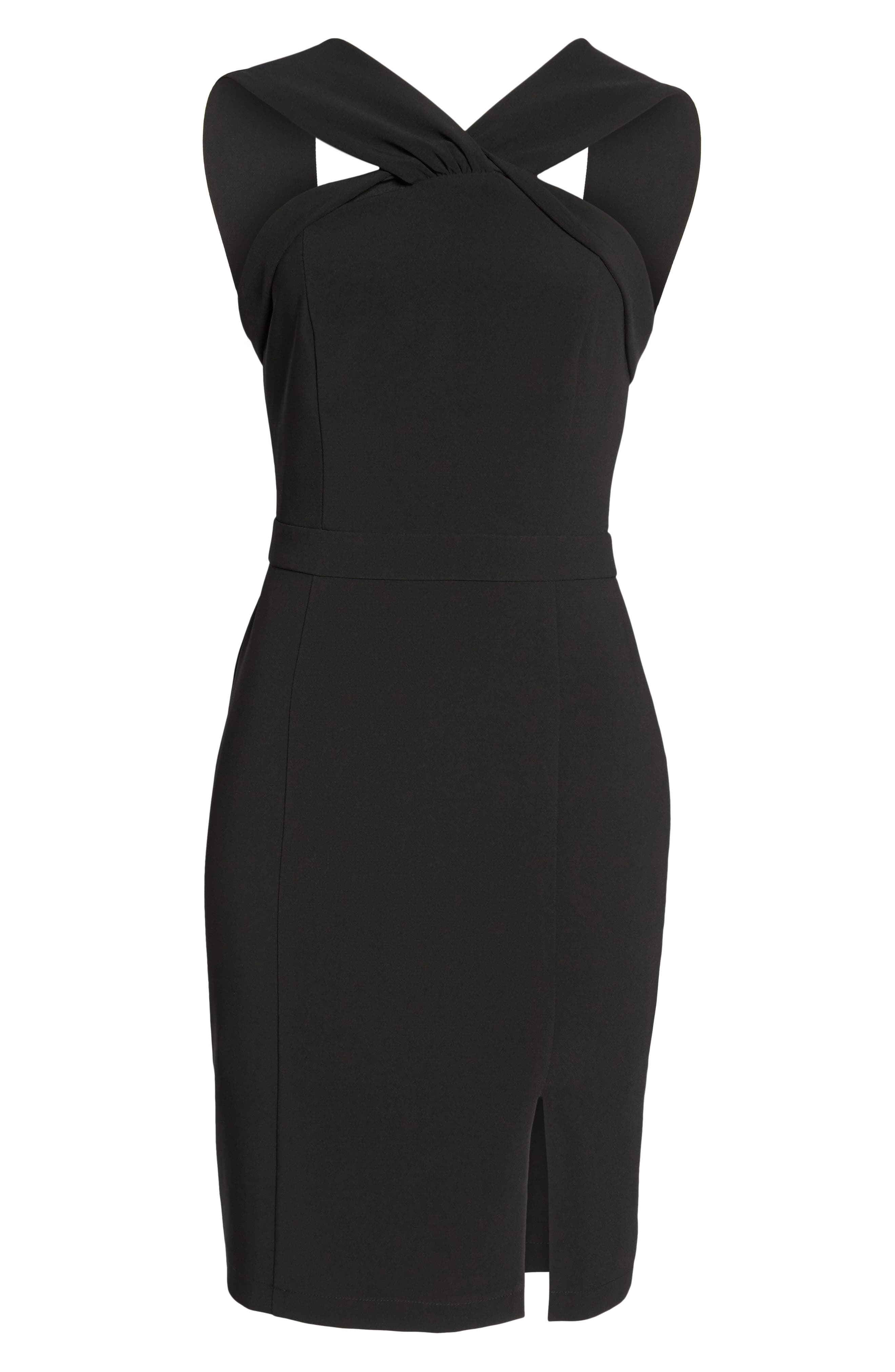 Wanda Sleeveless Sheath Dress,                             Alternate thumbnail 6, color,                             001