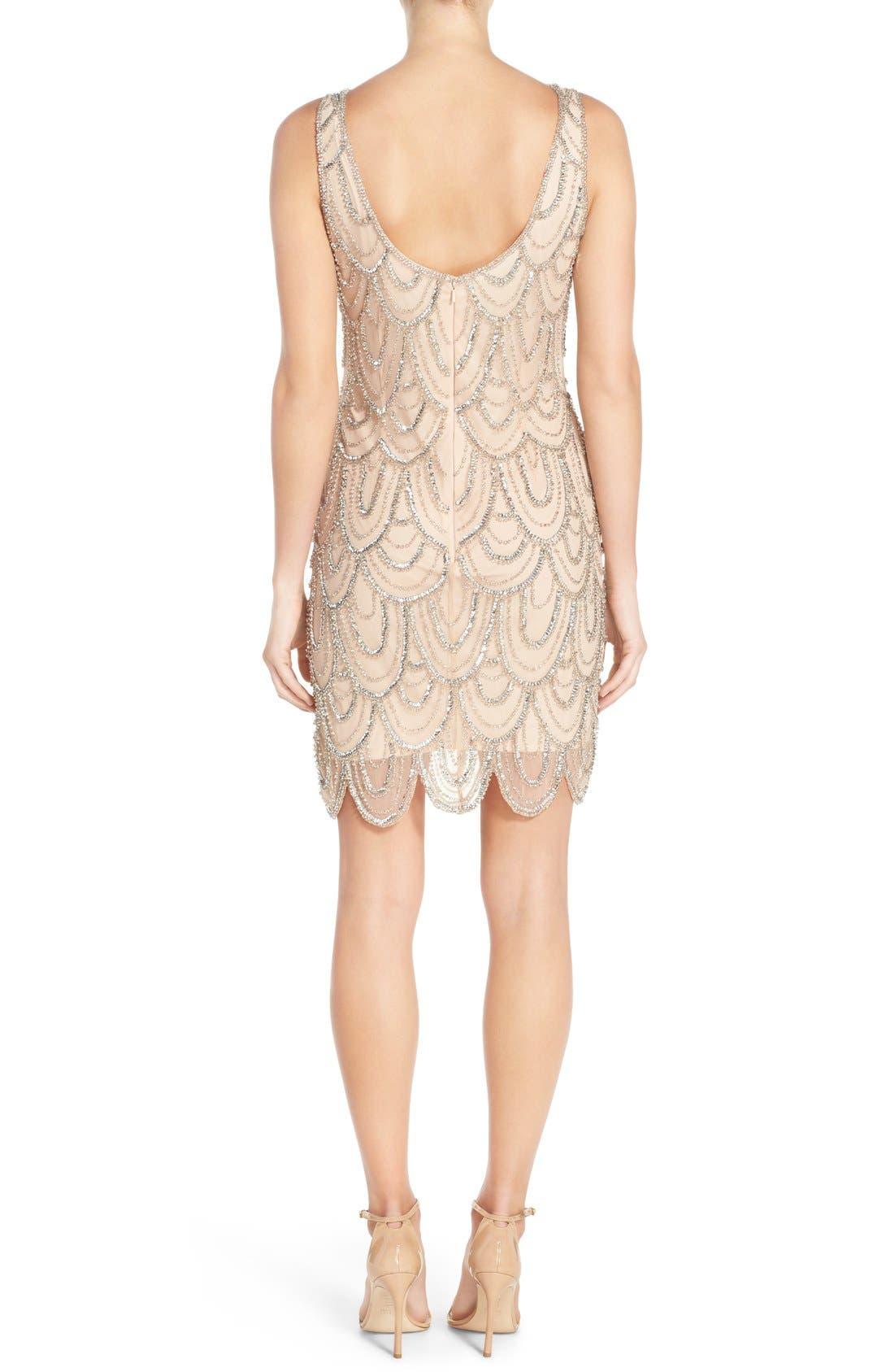 Embellished Mesh Sheath Dress,                             Alternate thumbnail 58, color,