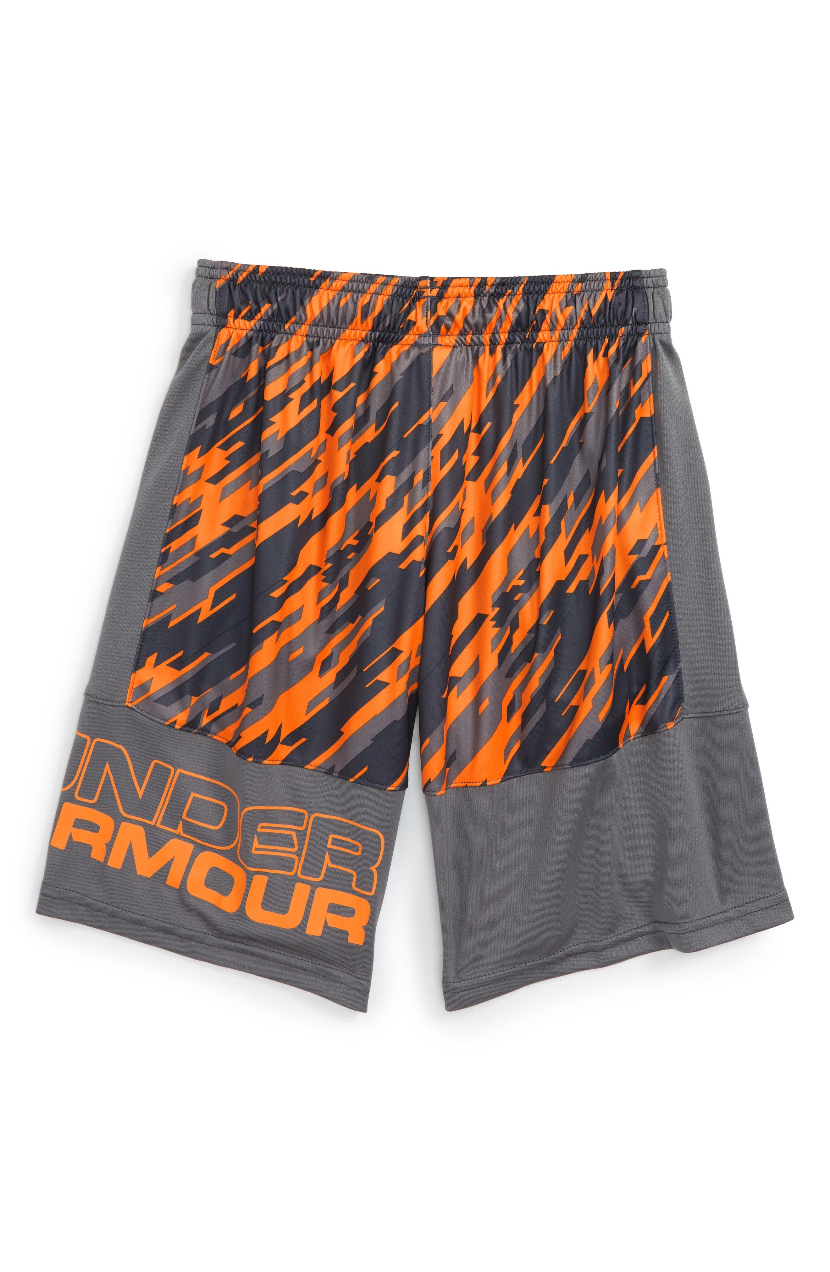 Stunt HeatGear<sup>®</sup> Shorts,                             Main thumbnail 45, color,