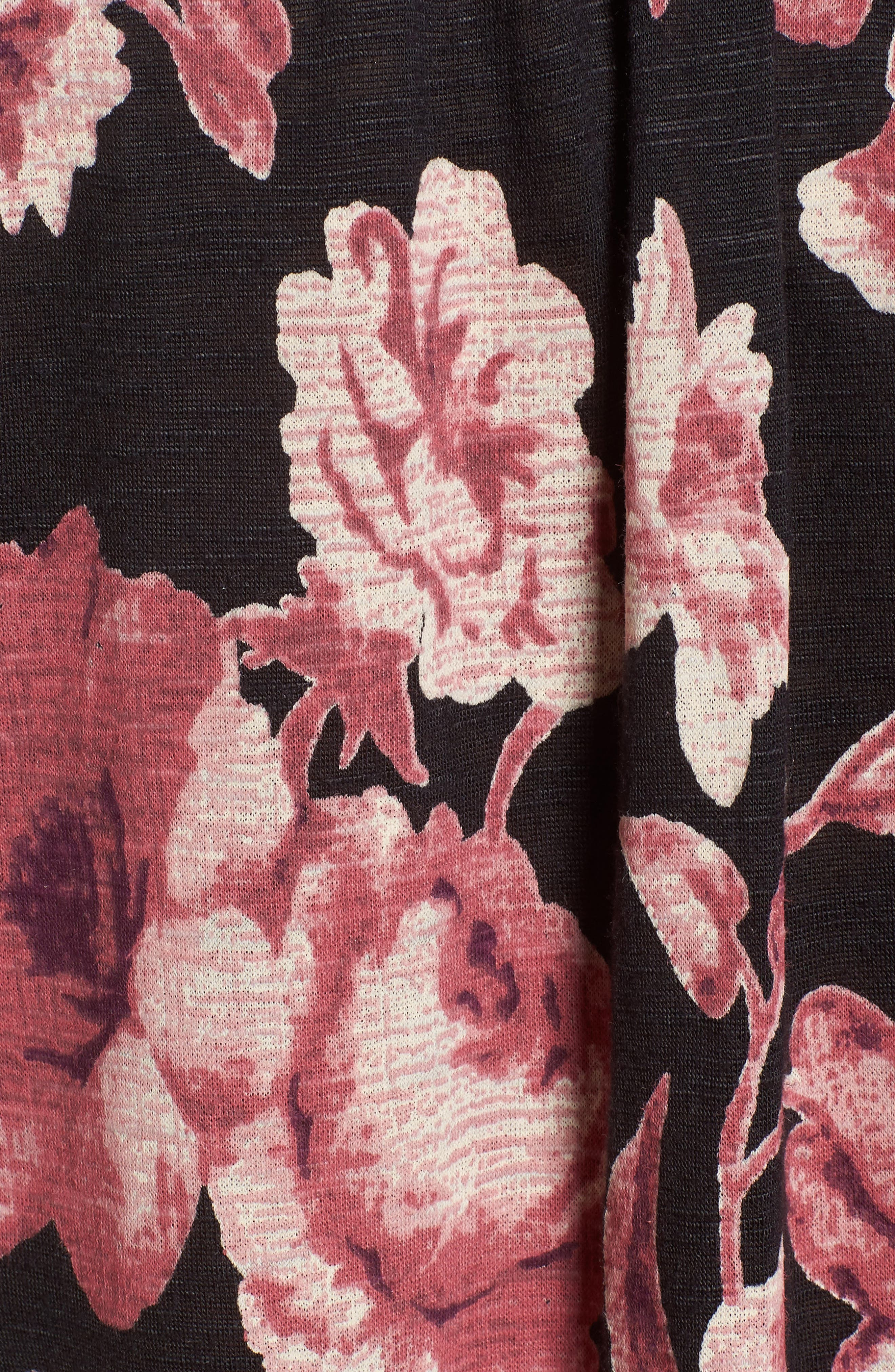 Smock Neck Floral Top,                             Alternate thumbnail 5, color,                             001