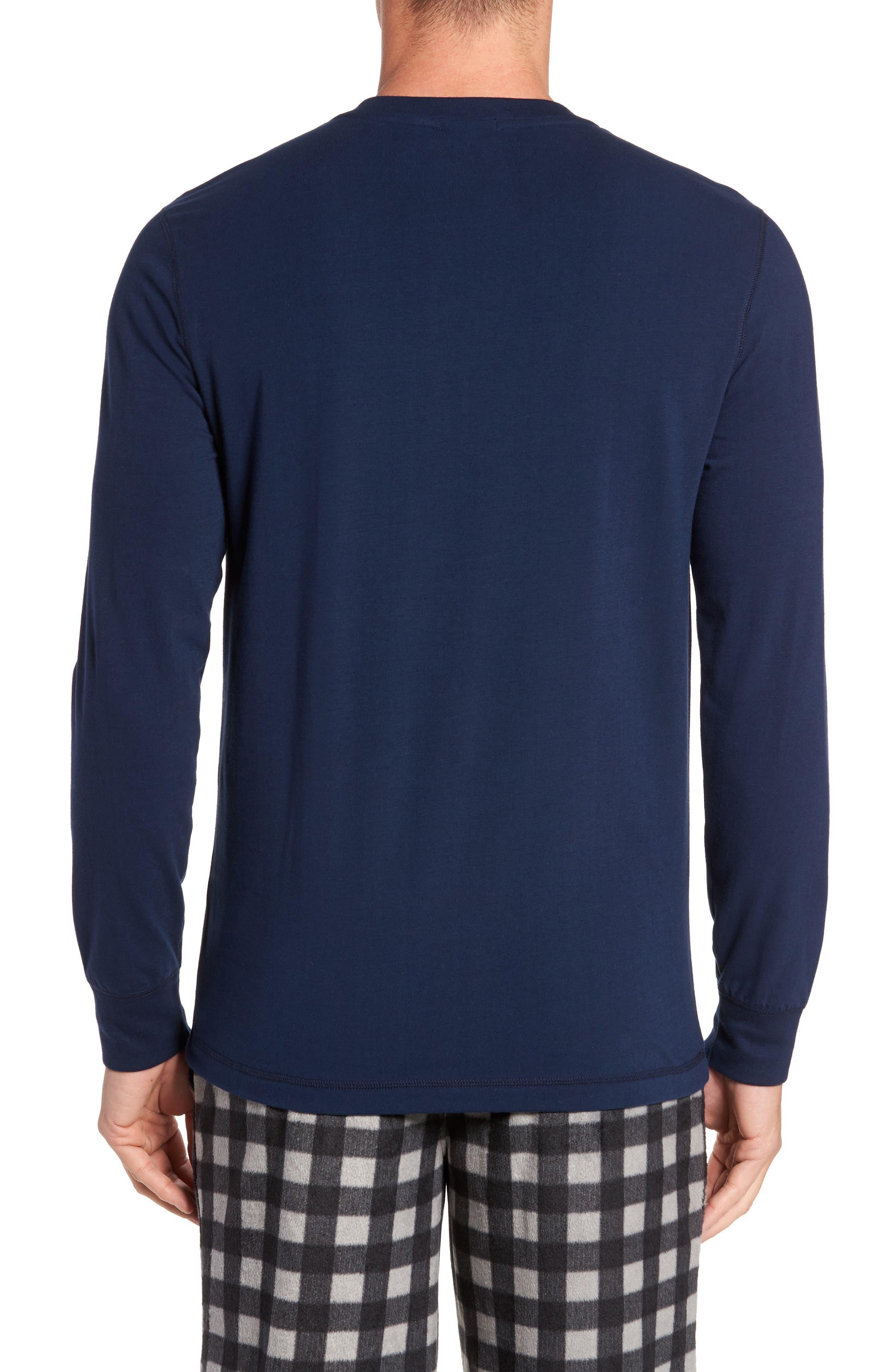 Stretch Cotton Long Sleeve T-Shirt,                             Alternate thumbnail 8, color,
