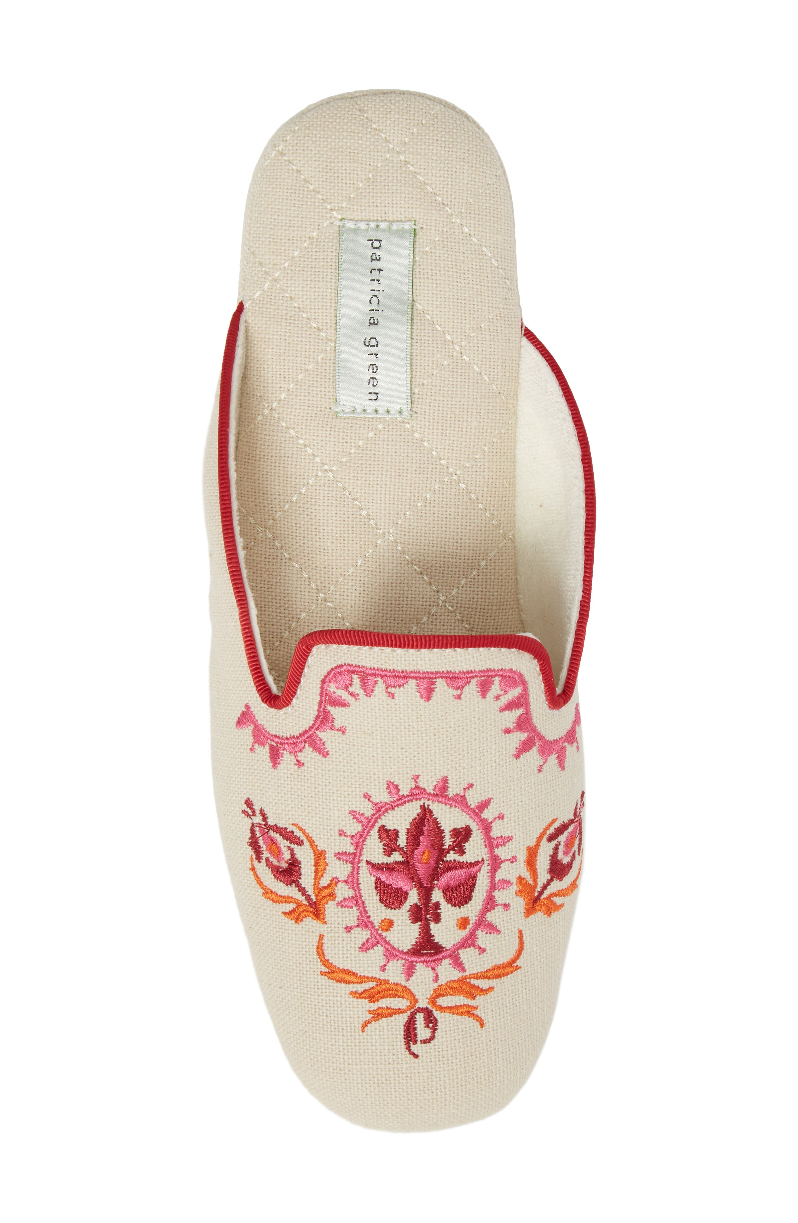 Rosa Embroidered Slipper,                             Alternate thumbnail 5, color,                             PINK FABRIC