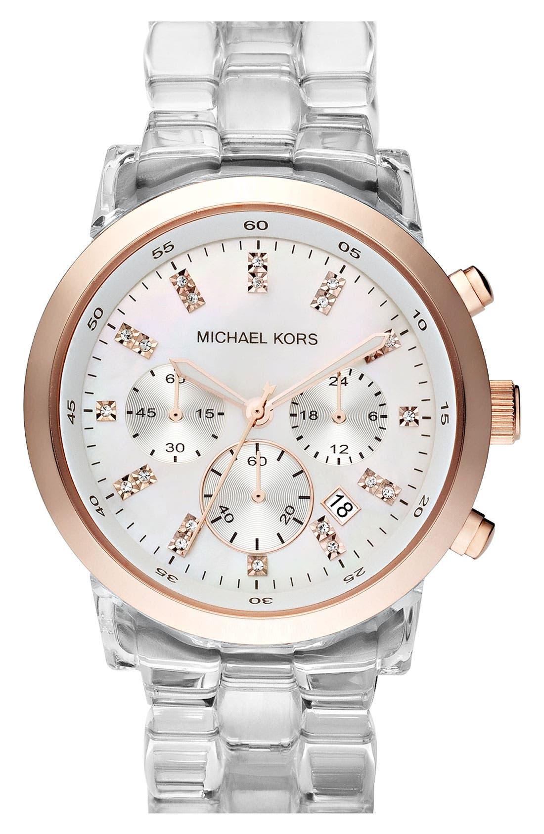 Michael Kors 'Show Stopper' Resin Watch,                             Main thumbnail 1, color,                             960