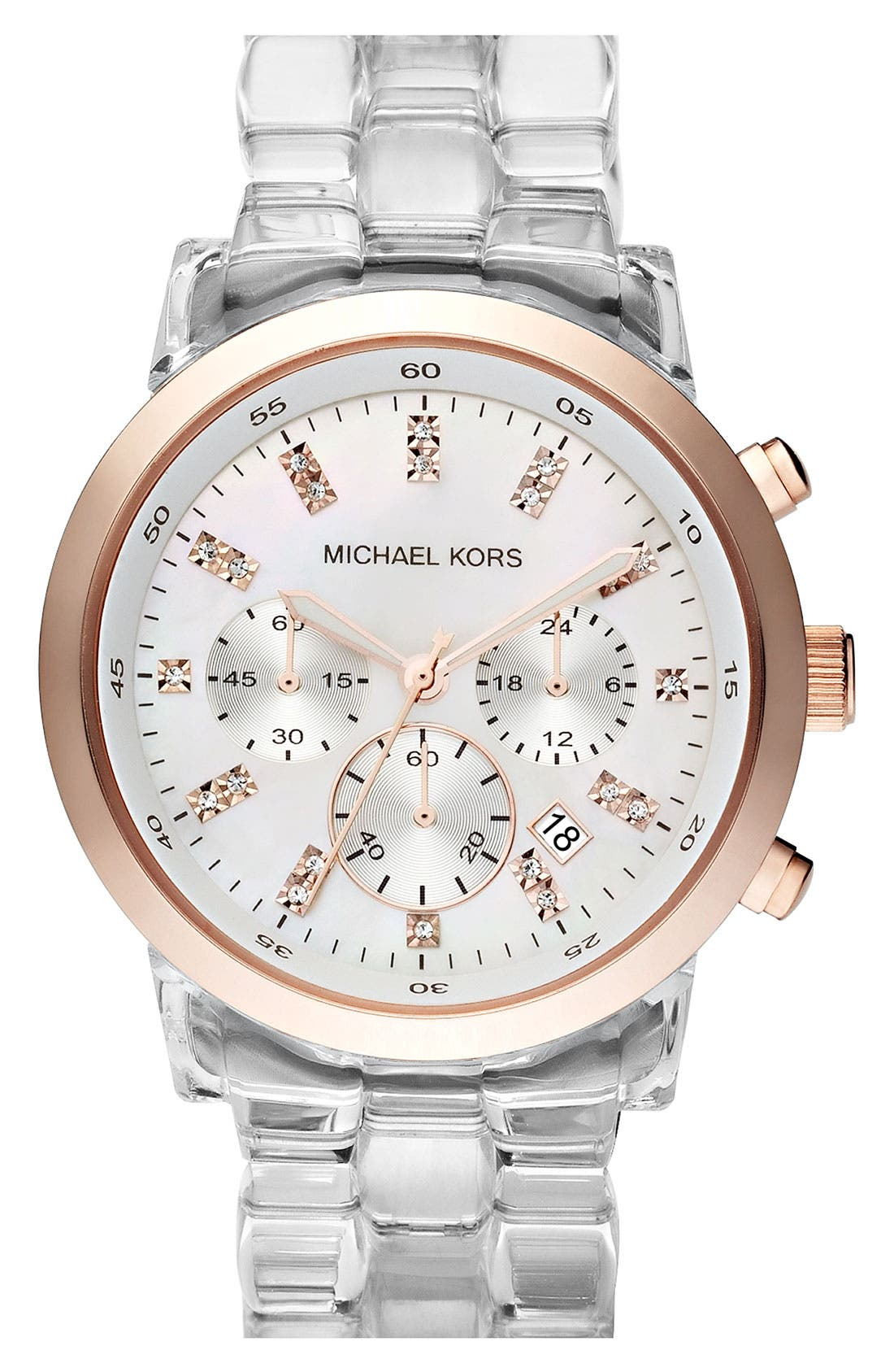 Michael Kors 'Show Stopper' Resin Watch, Main, color, 960