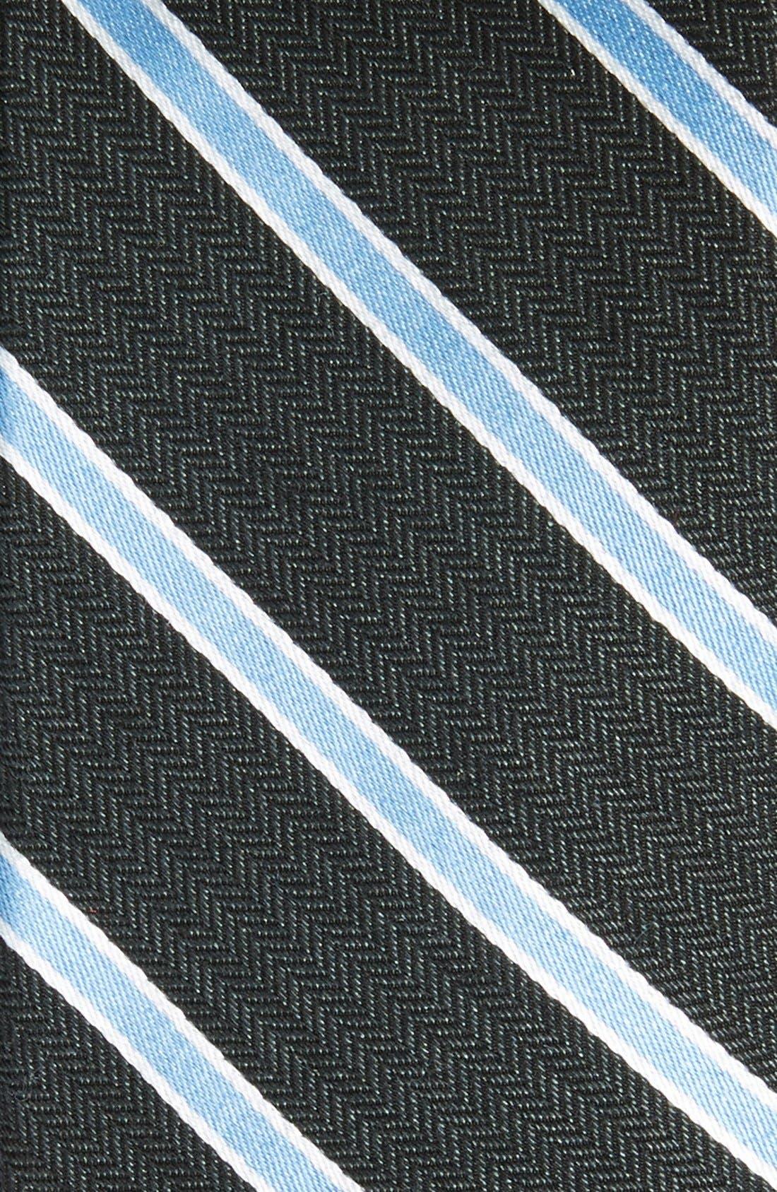 'Smoak' Stripe Woven Silk & Cotton Tie,                             Alternate thumbnail 2, color,                             001