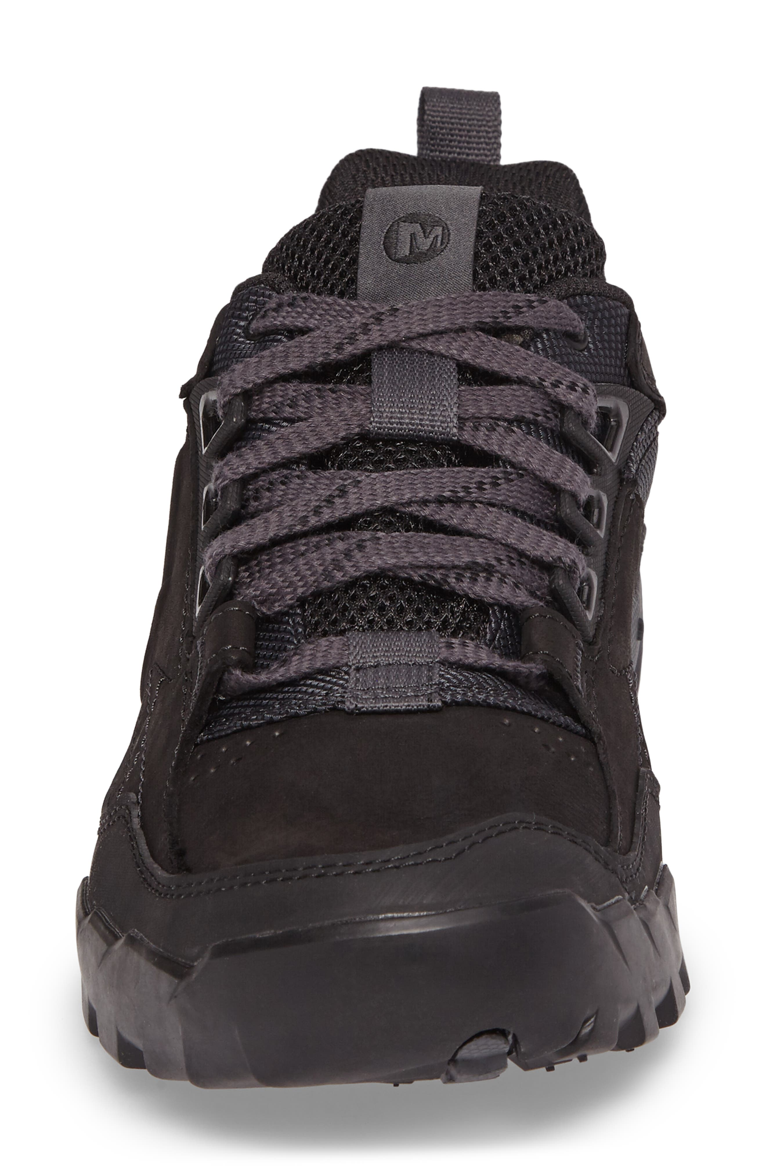 Annex Tak Low Hiking Shoe,                             Alternate thumbnail 4, color,                             BLACK NUBUCK LEATHER
