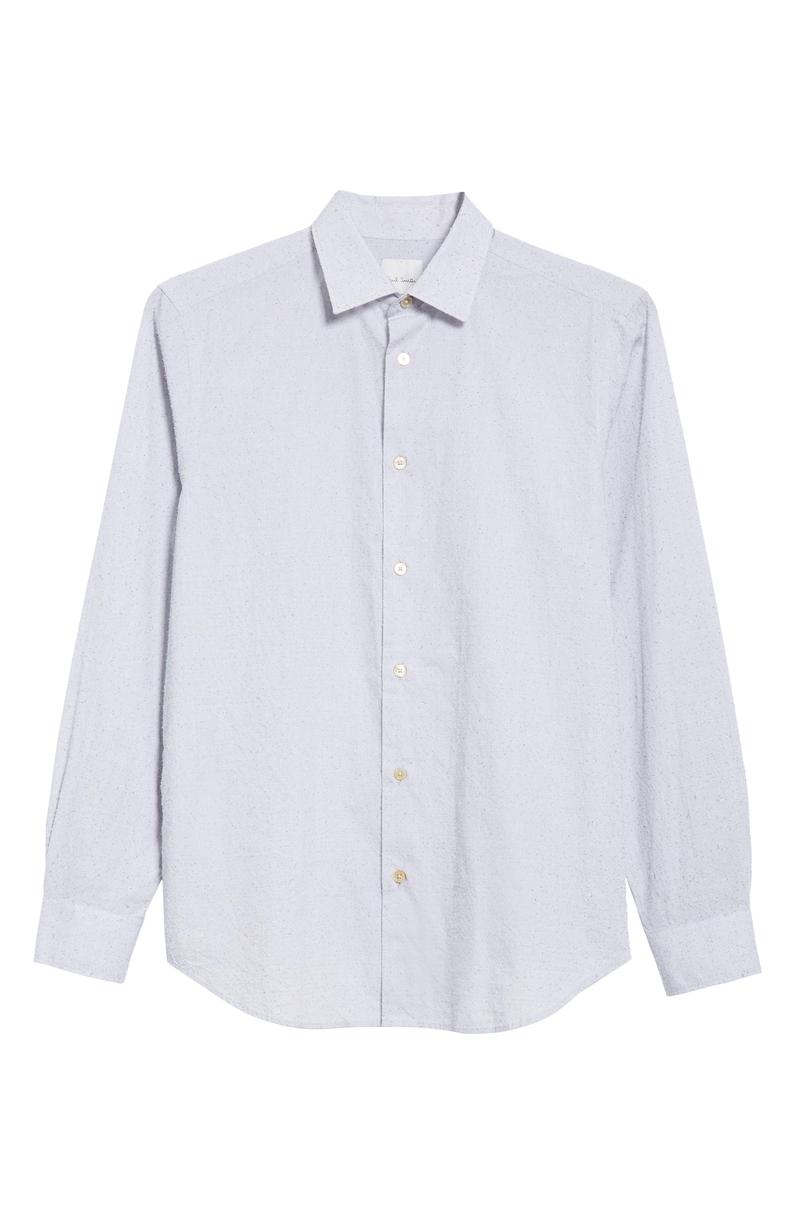 Nep Dot Woven Shirt,                             Alternate thumbnail 6, color,
