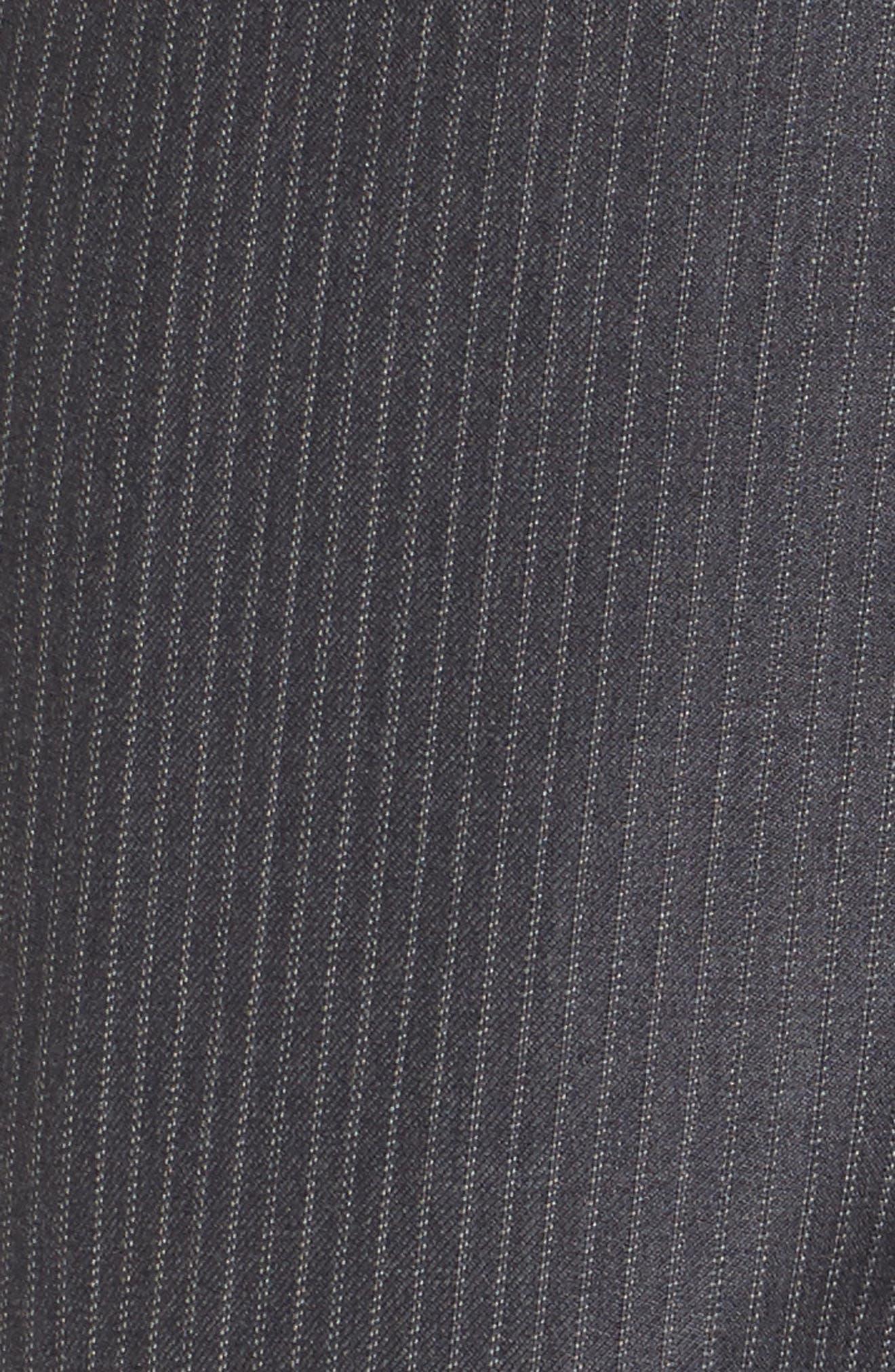 Classic Fit Stripe Wool Suit,                             Alternate thumbnail 7, color,                             030