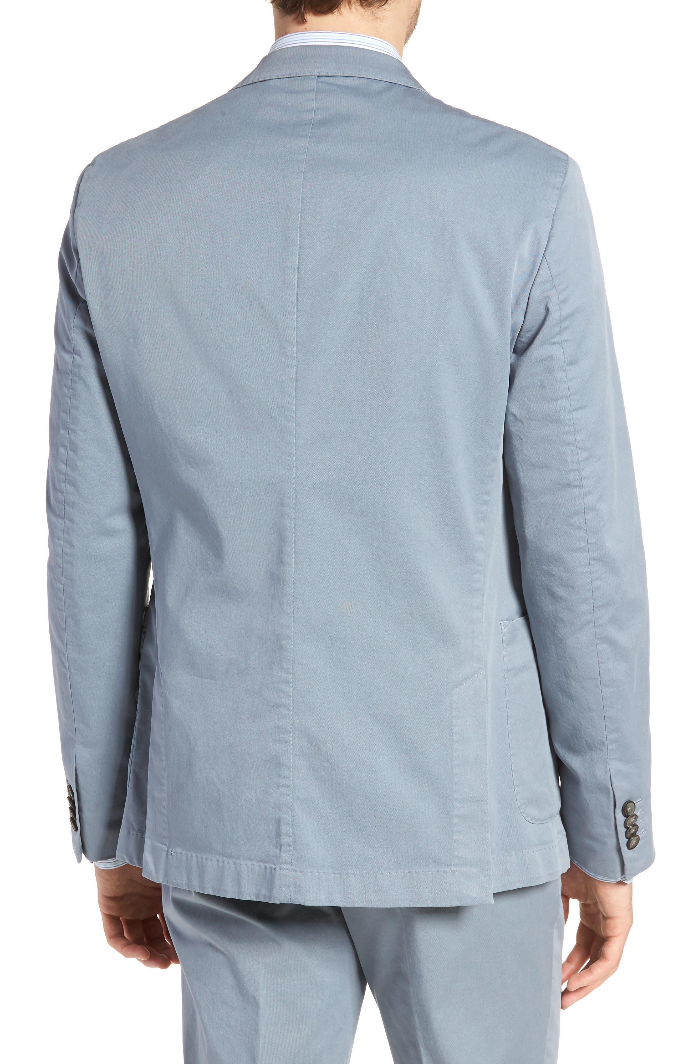 BOSS,                             Hanry-D Trim Fit Stretch Cotton Blazer,                             Alternate thumbnail 2, color,                             BLUE