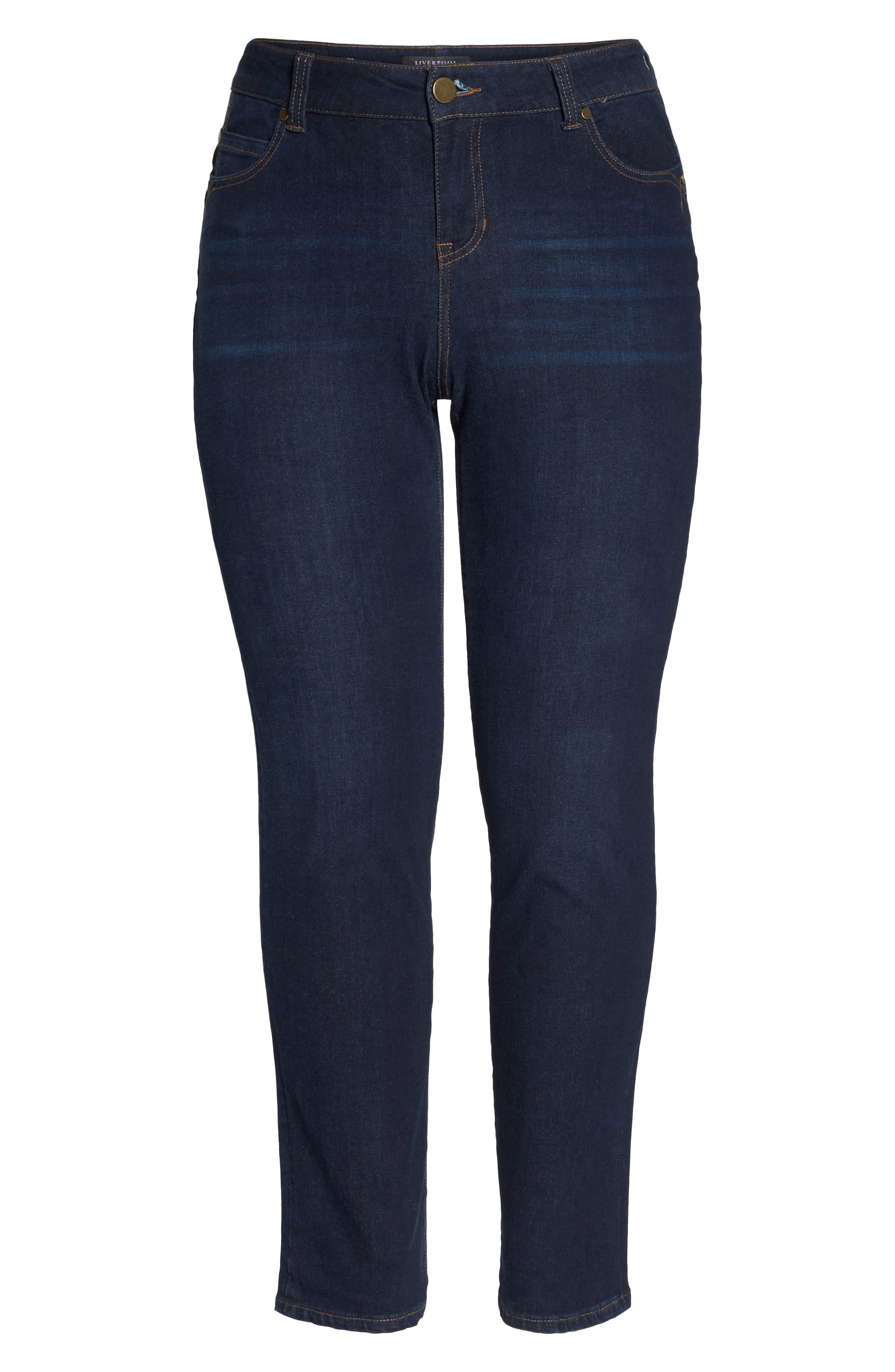 LIVERPOOL,                             Remy - Hugger Straight Leg Jeans,                             Alternate thumbnail 7, color,                             CORVUS DARK