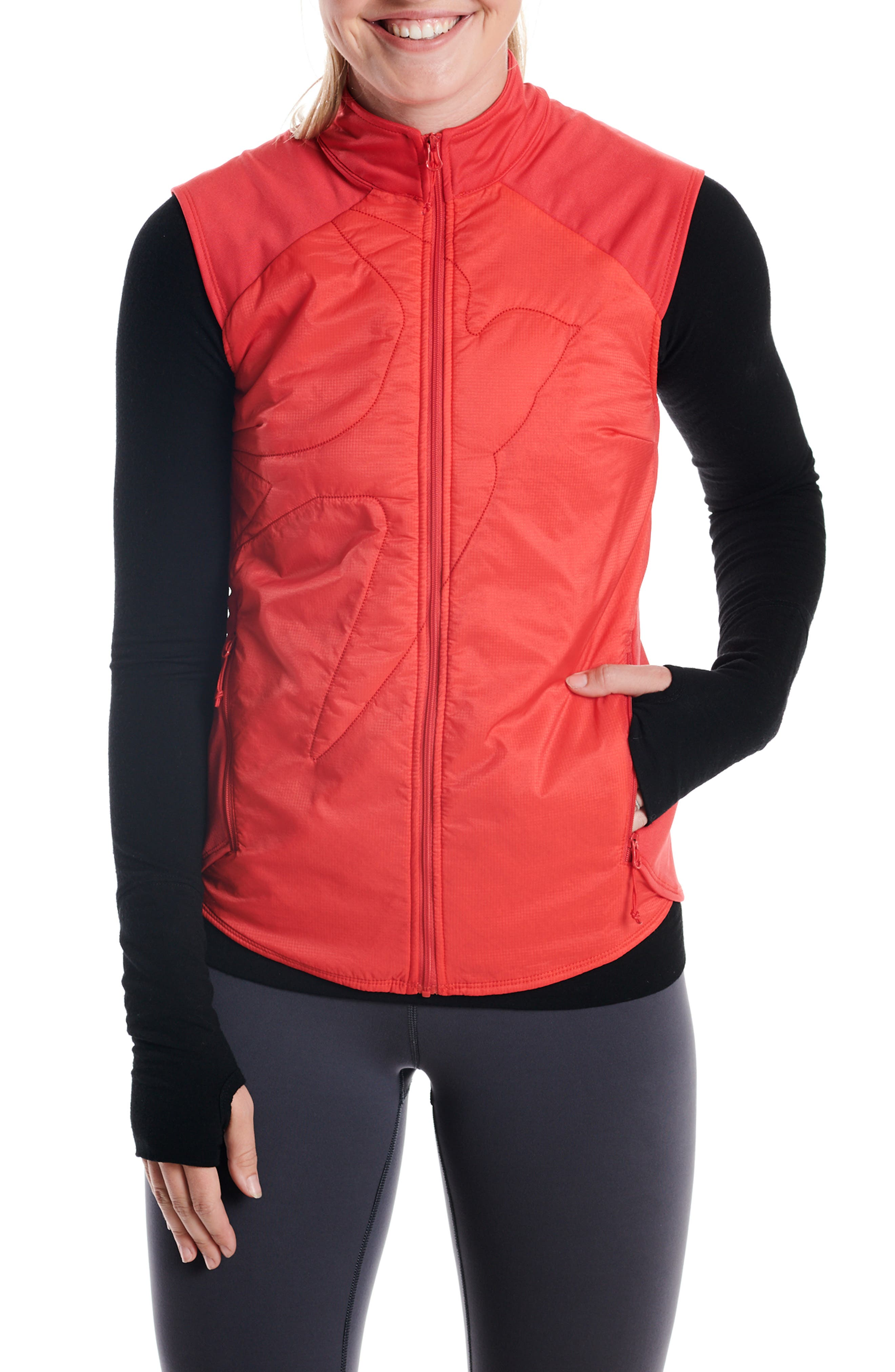 Oiselle Flyout Vest, Red