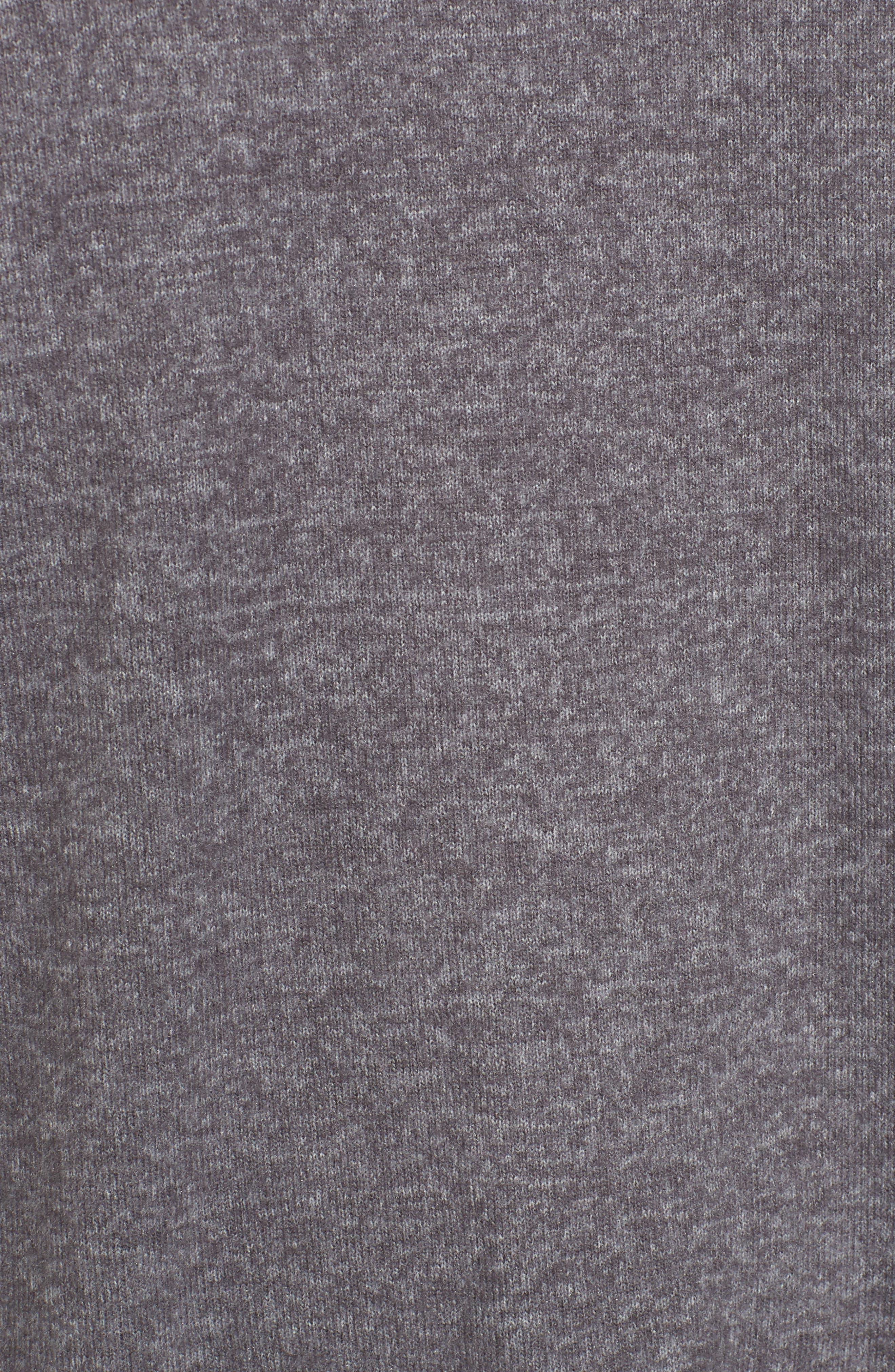 Asymmetrical Cozy Fleece Convertible Top,                             Alternate thumbnail 6, color,                             020
