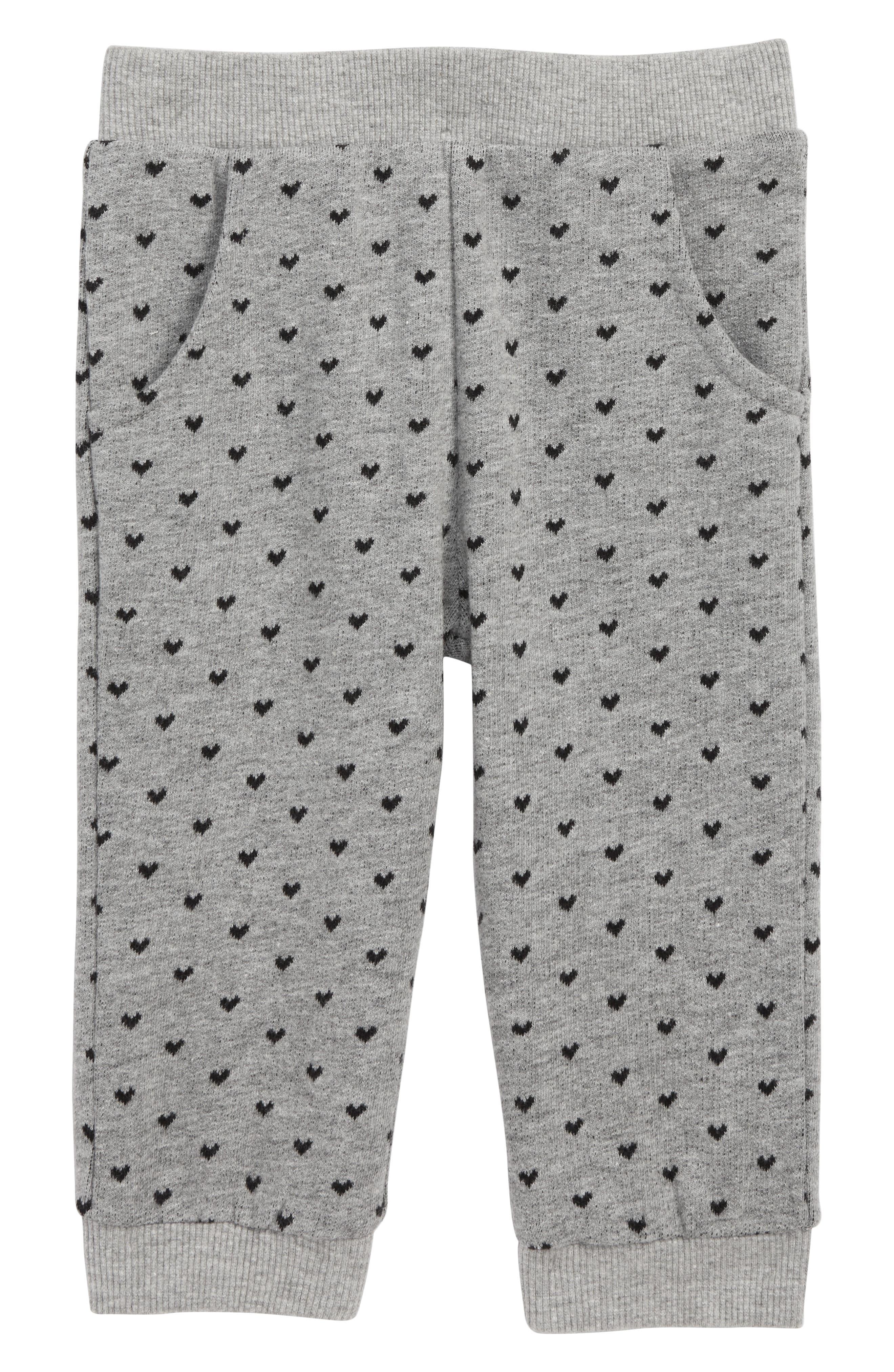 Peek Heart Traveler Knit Pants,                             Main thumbnail 1, color,                             HEATHER GREY
