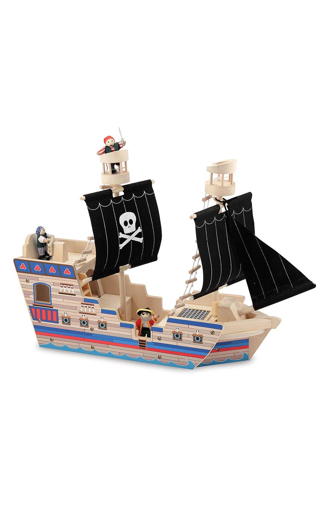 MELISSA & DOUG Pirate Ship Play Set, Main, color, 960