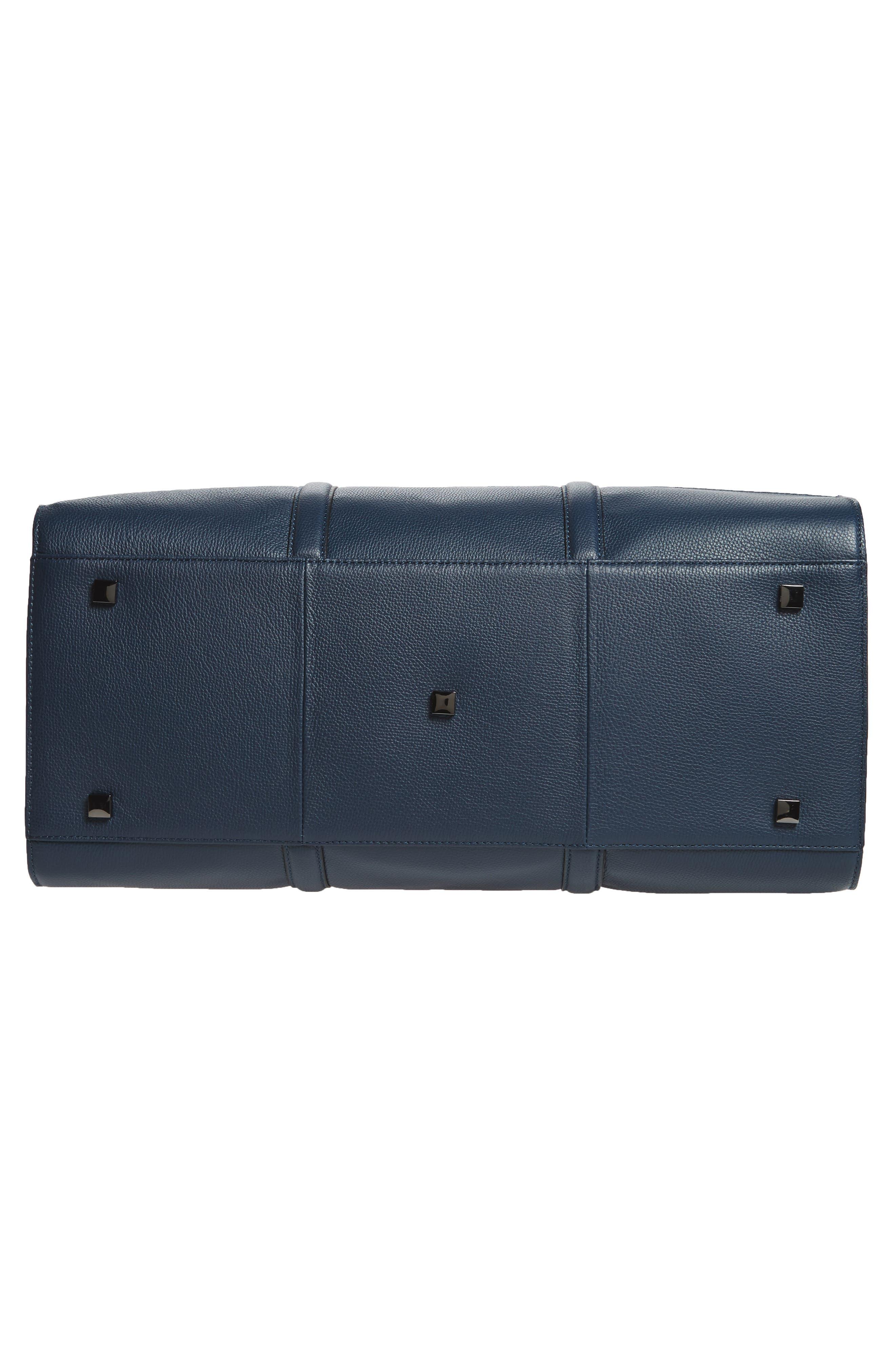 Leather Duffel Bag,                             Alternate thumbnail 17, color,