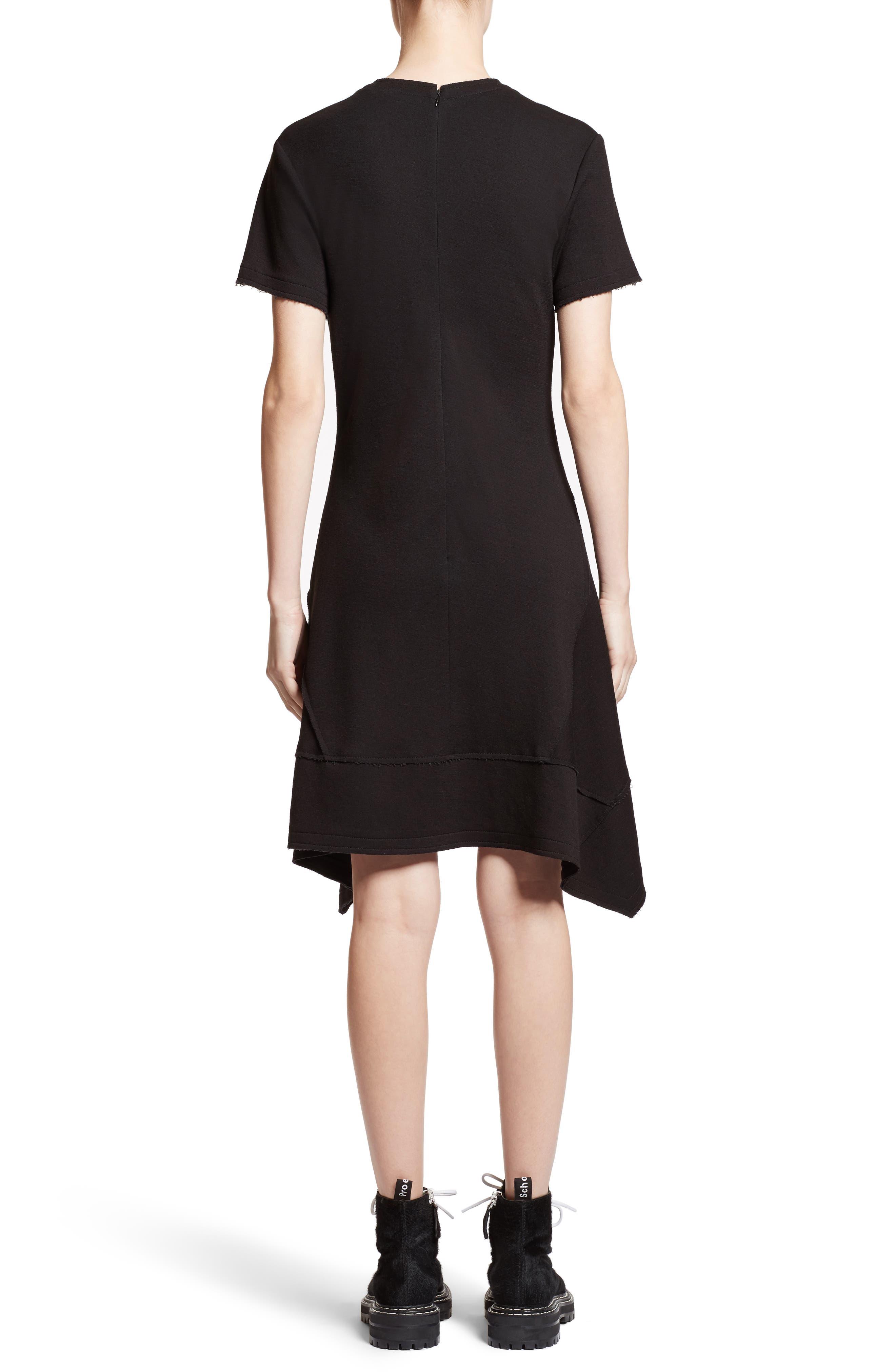 Asymmetrical Fit & Flare Dress,                             Alternate thumbnail 2, color,                             001