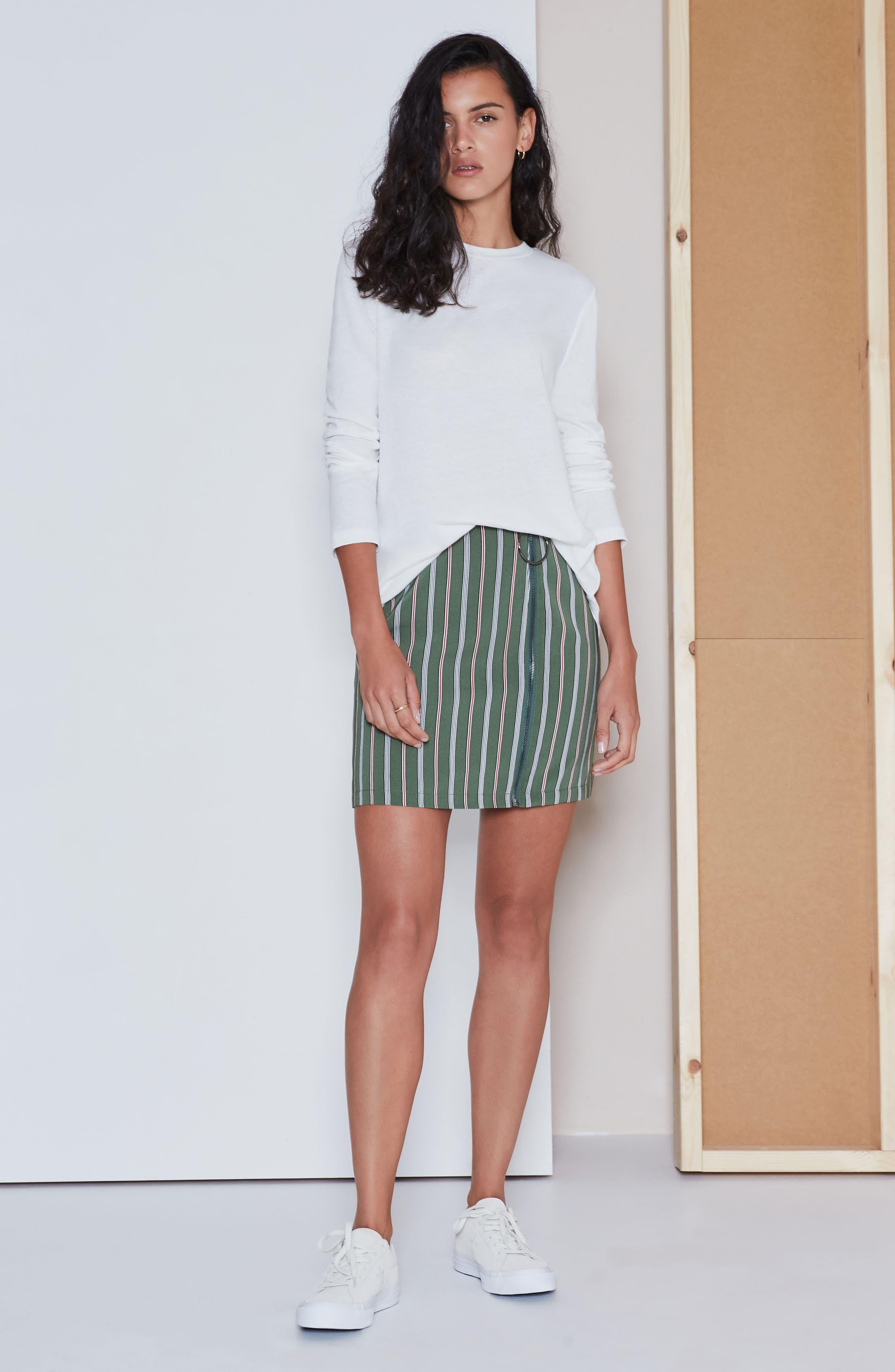 Axial Stripe Miniskirt,                             Alternate thumbnail 8, color,                             300