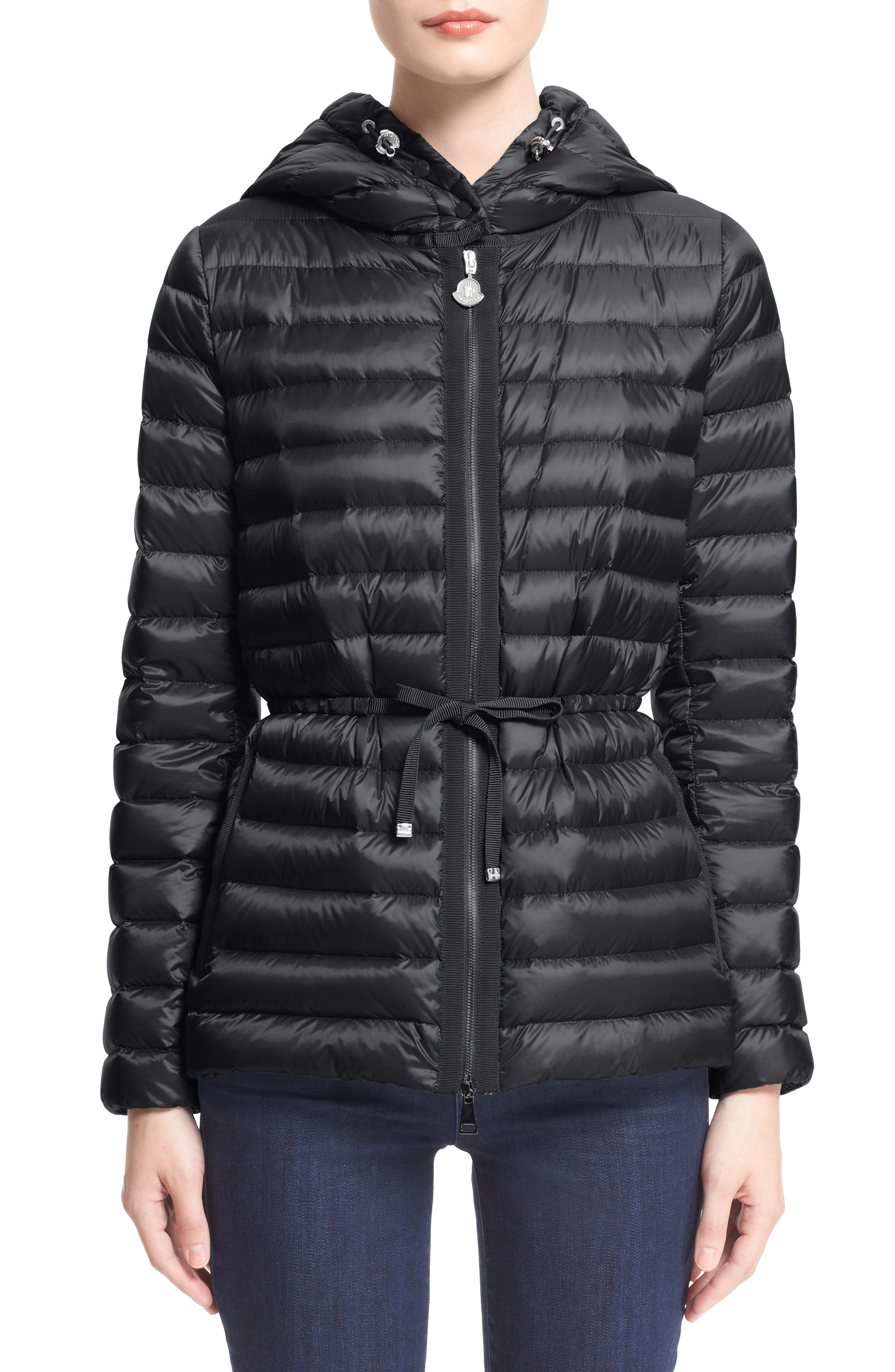 'Raie' Water Resistant Hooded Down Jacket,                             Main thumbnail 1, color,                             002