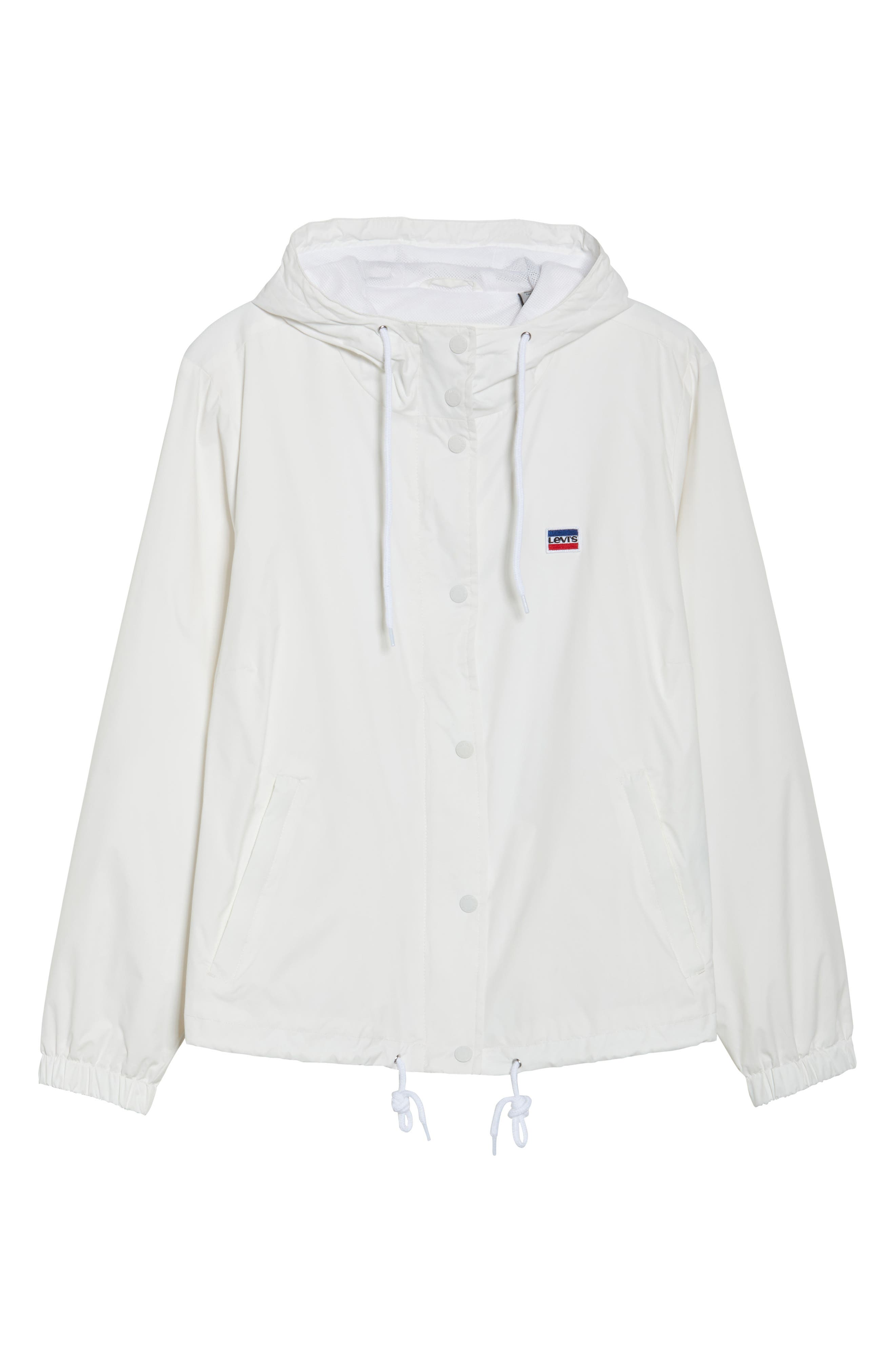 Retro Hooded Coach's Jacket,                             Alternate thumbnail 17, color,