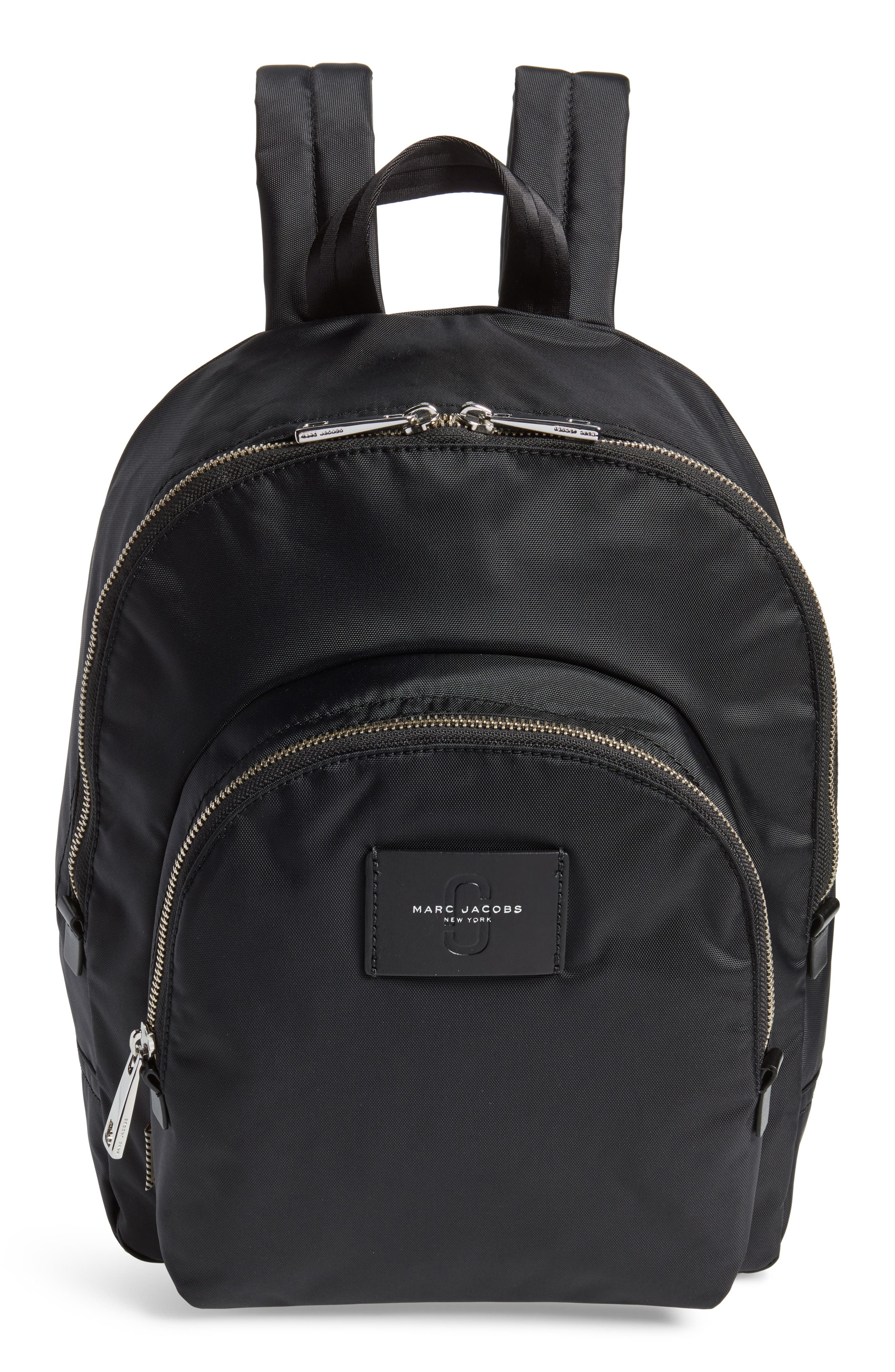MARC JACOBS,                             Double Pack Nylon Backpack,                             Main thumbnail 1, color,                             001