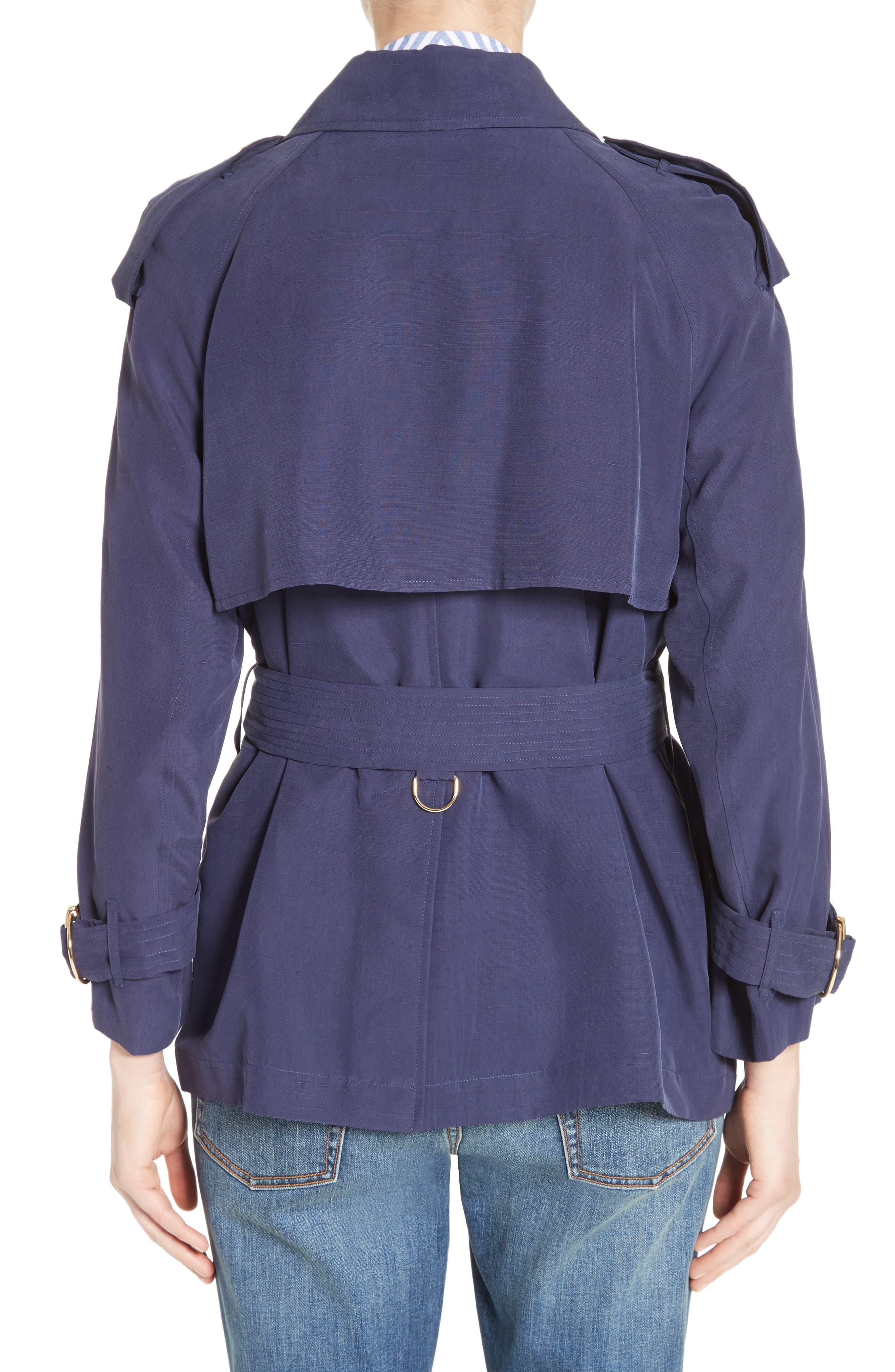 Sanbridge Silk Wrap Coat,                             Alternate thumbnail 2, color,                             410