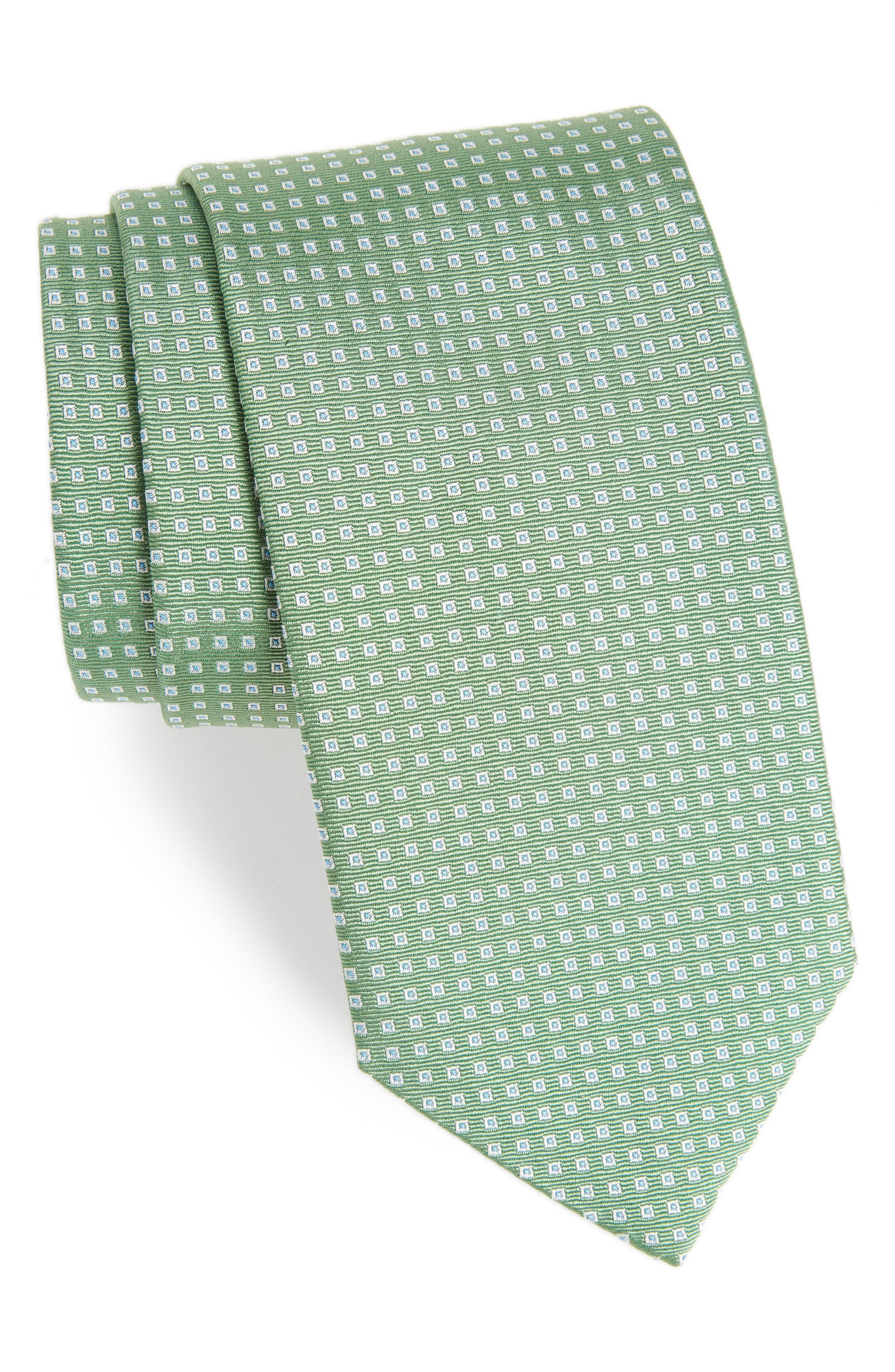 Geometric Silk Tie,                         Main,                         color, 310