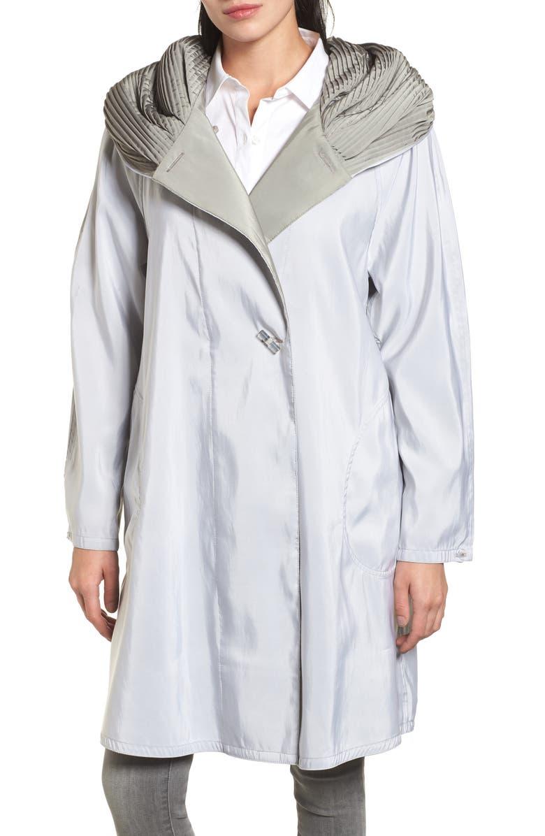 776c0ff7e3a6d Mycra Pac Designer Wear Reversible Pleat Hood Packable Travel Coat ...