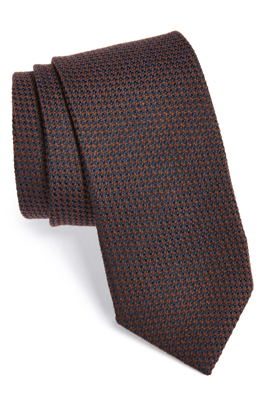 Woven Silk & Cotton Tie,                             Main thumbnail 2, color,