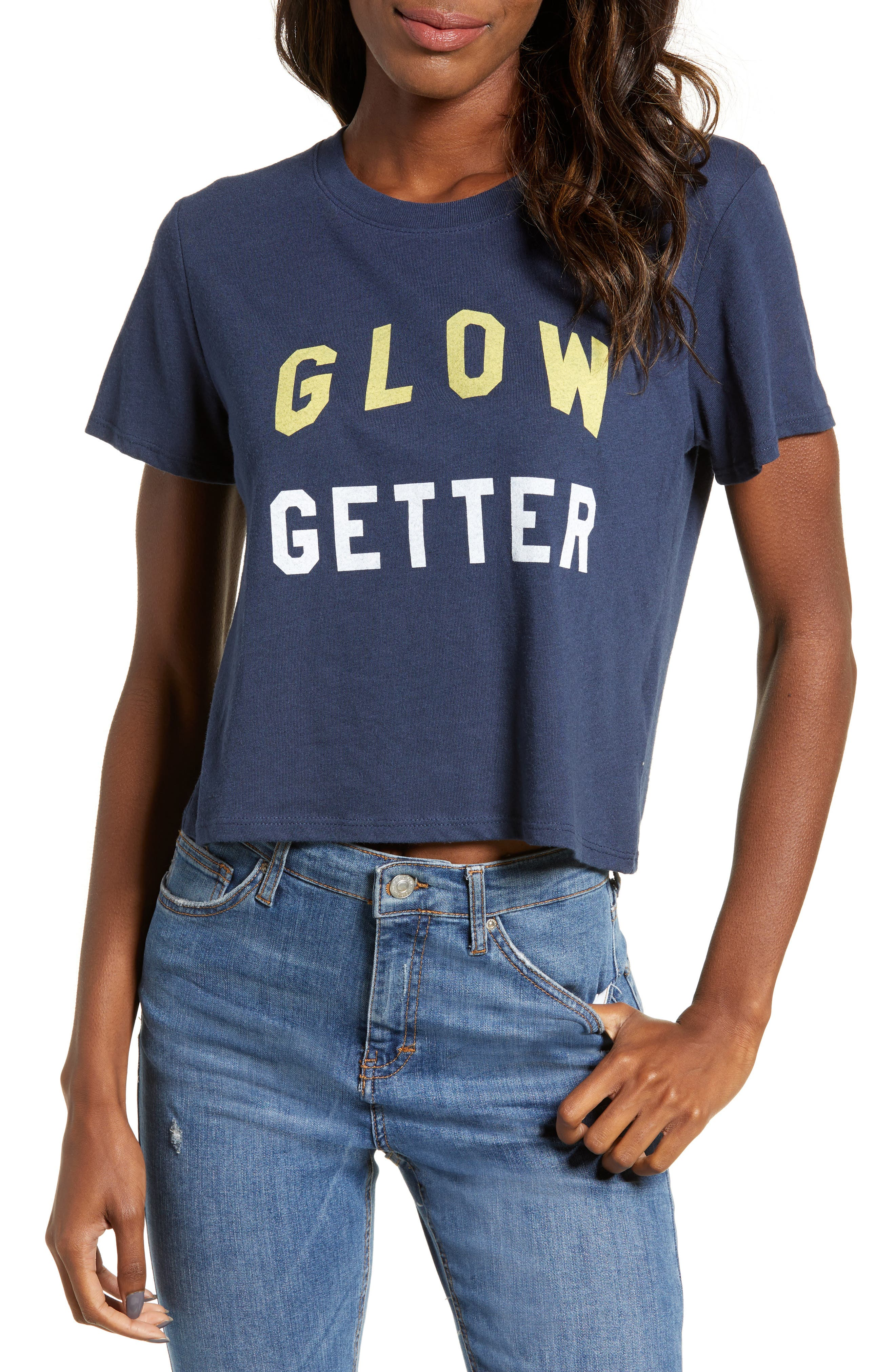 SUB_URBAN RIOT Glow Getter Dylan Tee in French Navy