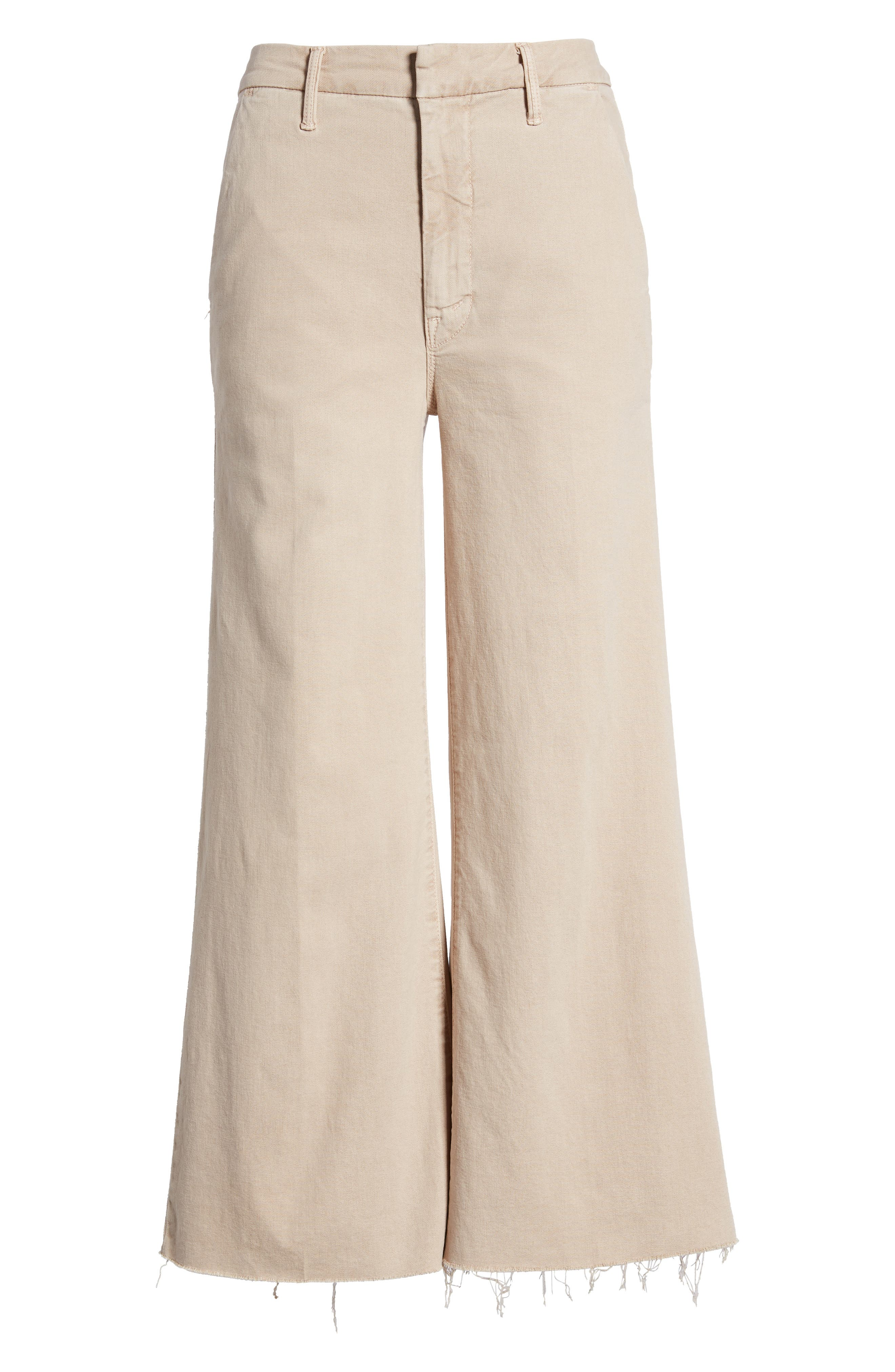The Roller Fray Crop Wide Leg Jeans,                             Alternate thumbnail 7, color,                             250