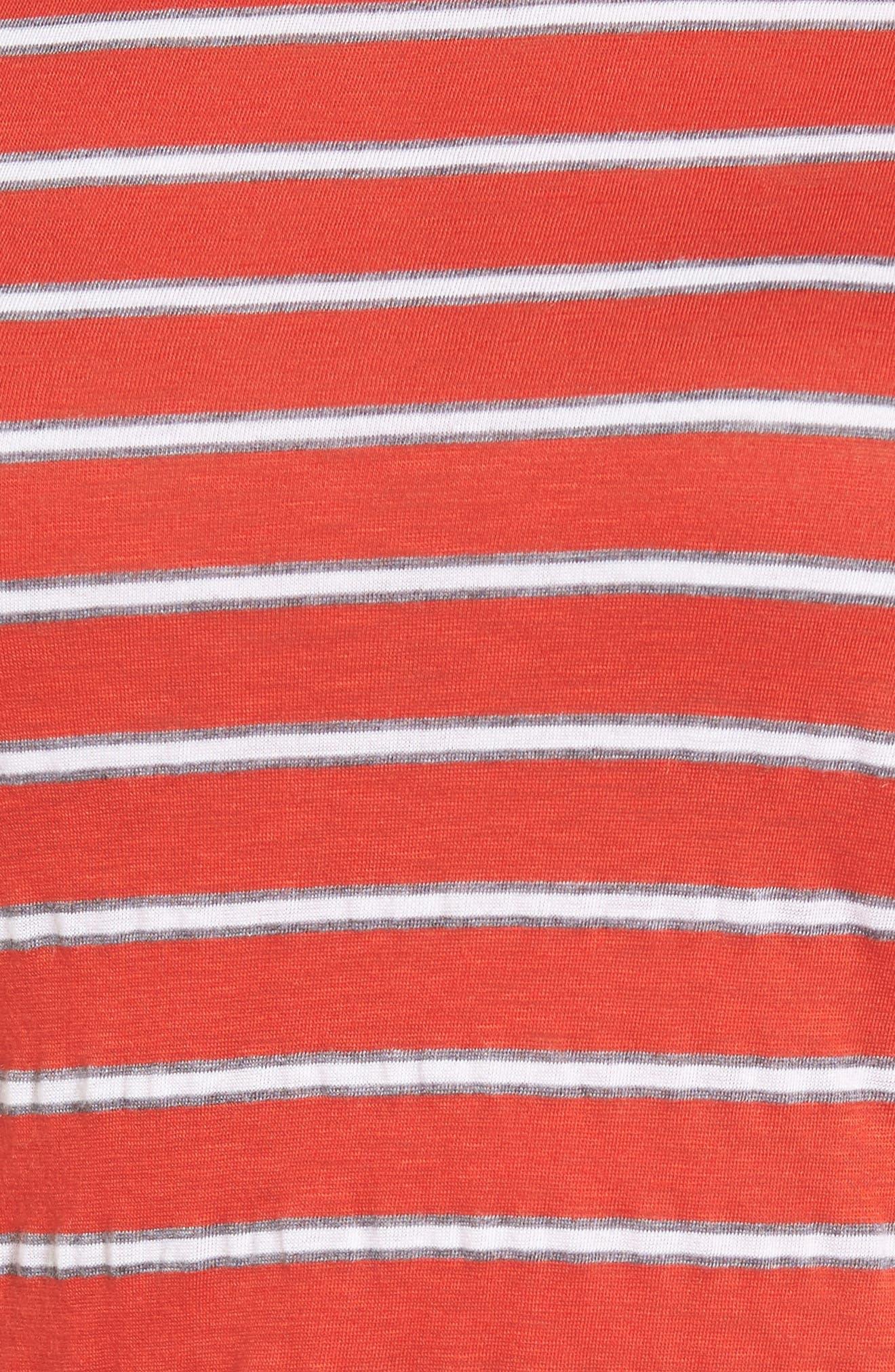 Stripe Ruched Dress,                             Alternate thumbnail 5, color,                             634