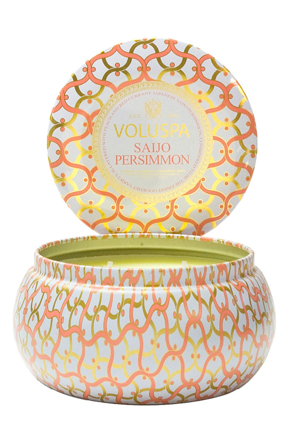 Maison Blanc Saijo Persimmon Maison Metallo 2-Wick Candle,                         Main,                         color, NO COLOR
