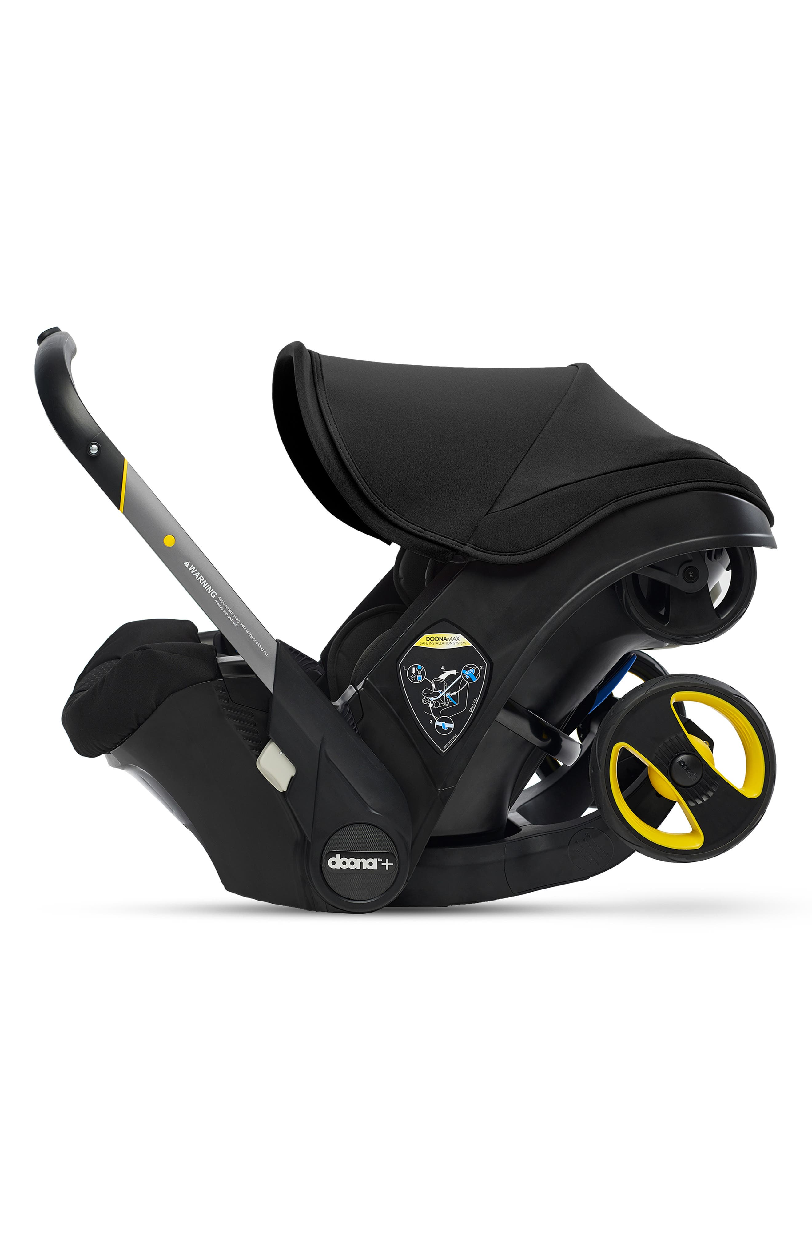 Convertible Infant Car Seat/Compact Stroller System with Base,                             Alternate thumbnail 4, color,                             BLACK/NIGHT