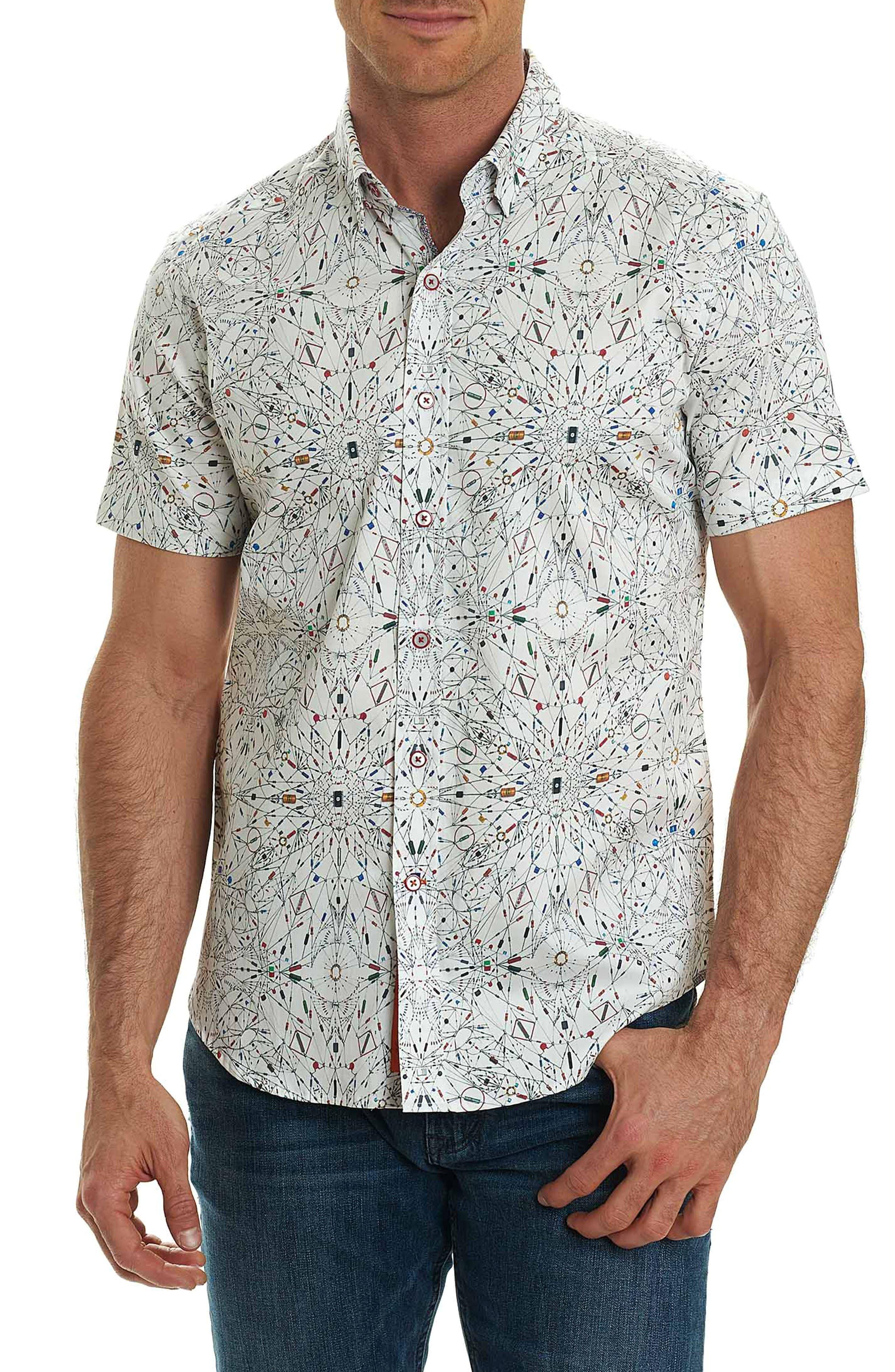 Piers Print Sport Shirt,                         Main,                         color, 100