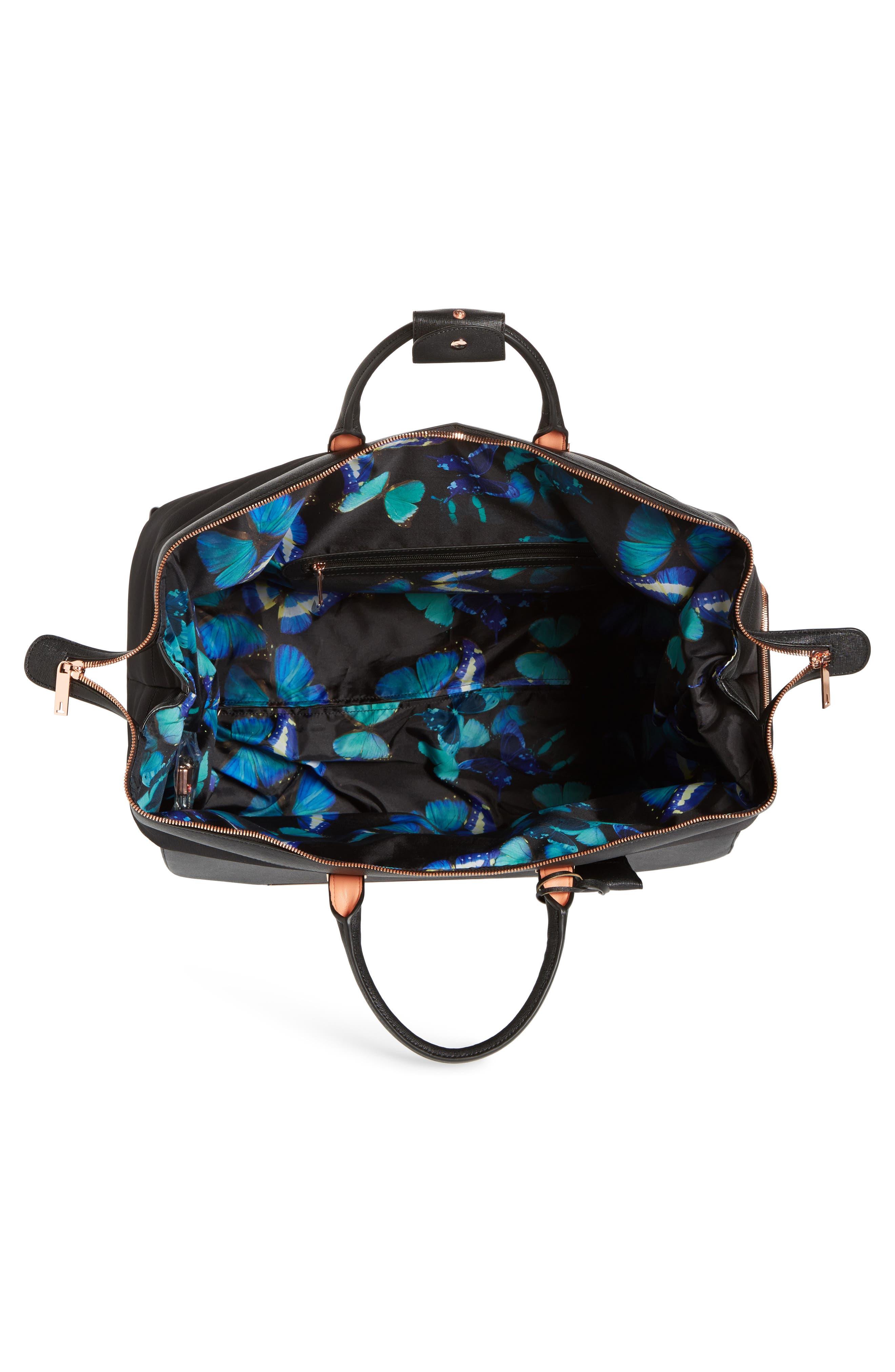 Large Albany Rolling Duffel Bag,                             Alternate thumbnail 2, color,                             BLACK